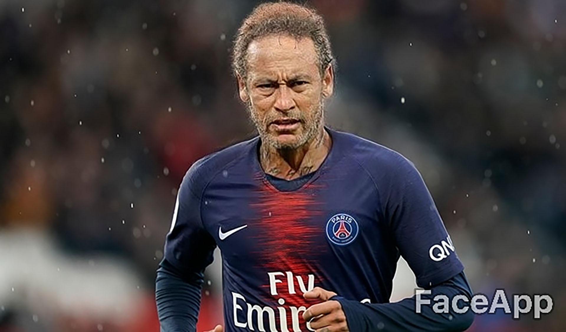 Neymar a los 80 años aún no pudo abandonar el PSG