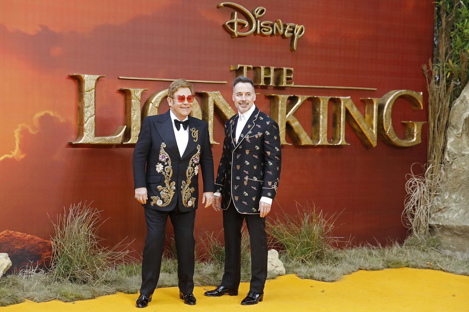 Elton John y su marido David Furnish