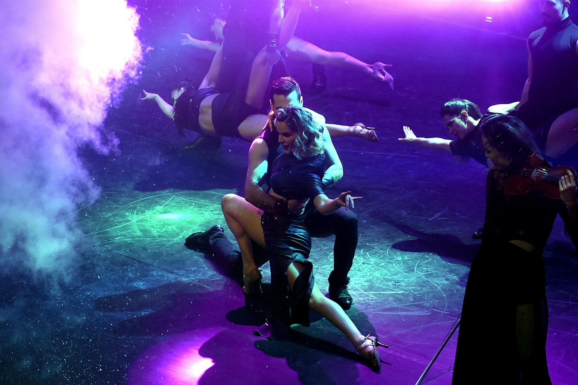"""Tempotango, junto a la bailarina Marianela """"Chipi"""" Anchipi, y el dúo Las Rositas Tango (Gabriela y Cecilia Palma), también formaron parte del evento"""