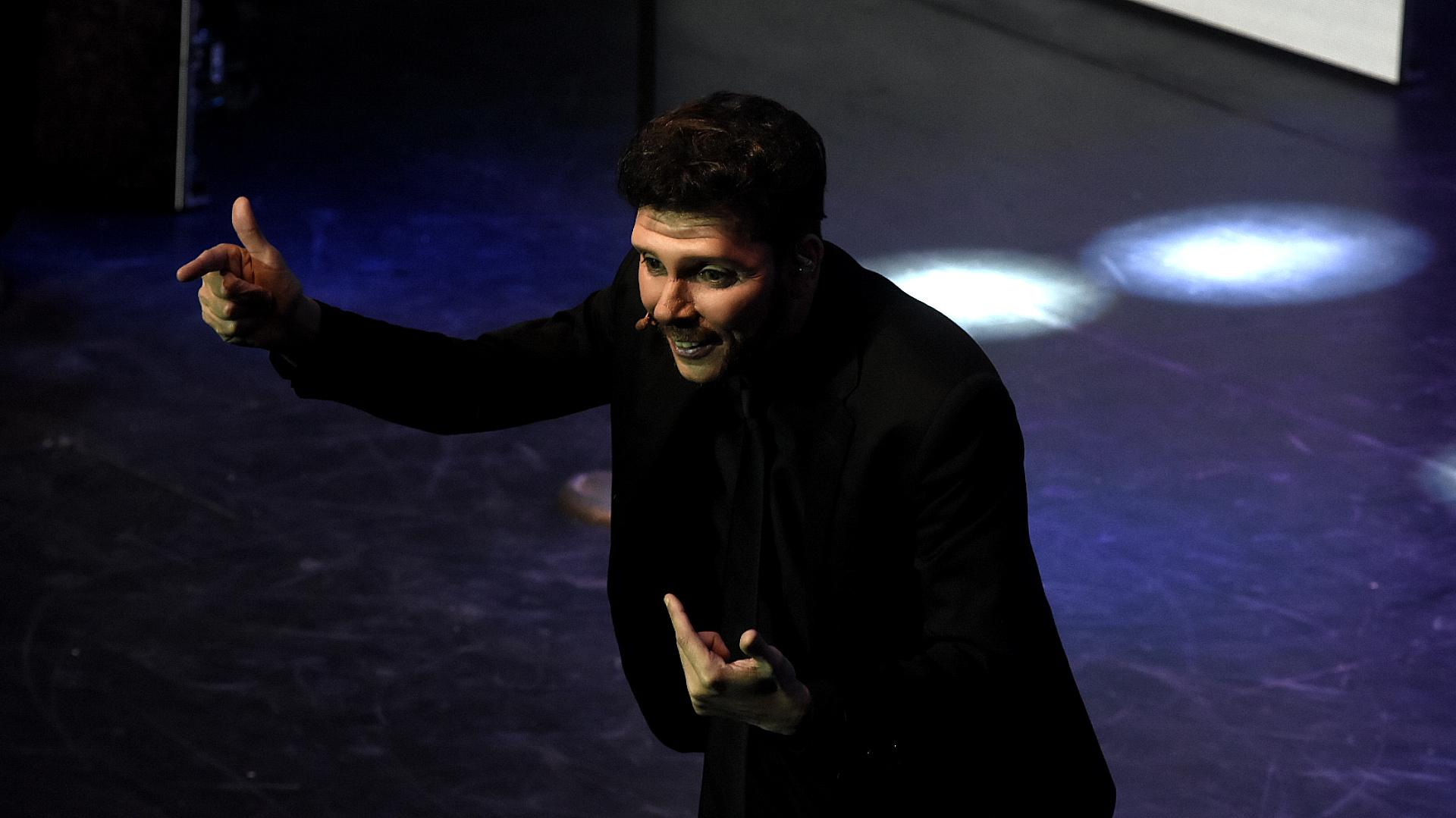 """Martín Bossi, uno de los animadores del evento, caracterizó al """"Cholo"""" Simeone"""