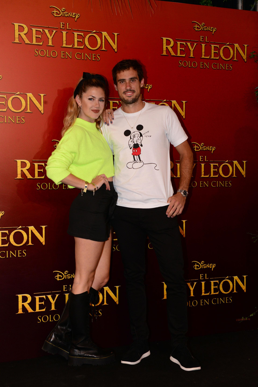 Stephanie Demner y Guido Pella.