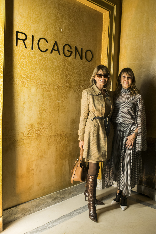 Teresa Calandra yla diseñadora Fabiana Ricagno