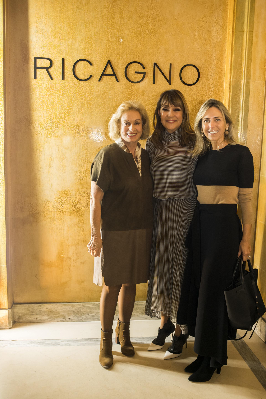 Fabiana Ricagno recibió a Miriam y Mariana Bagó