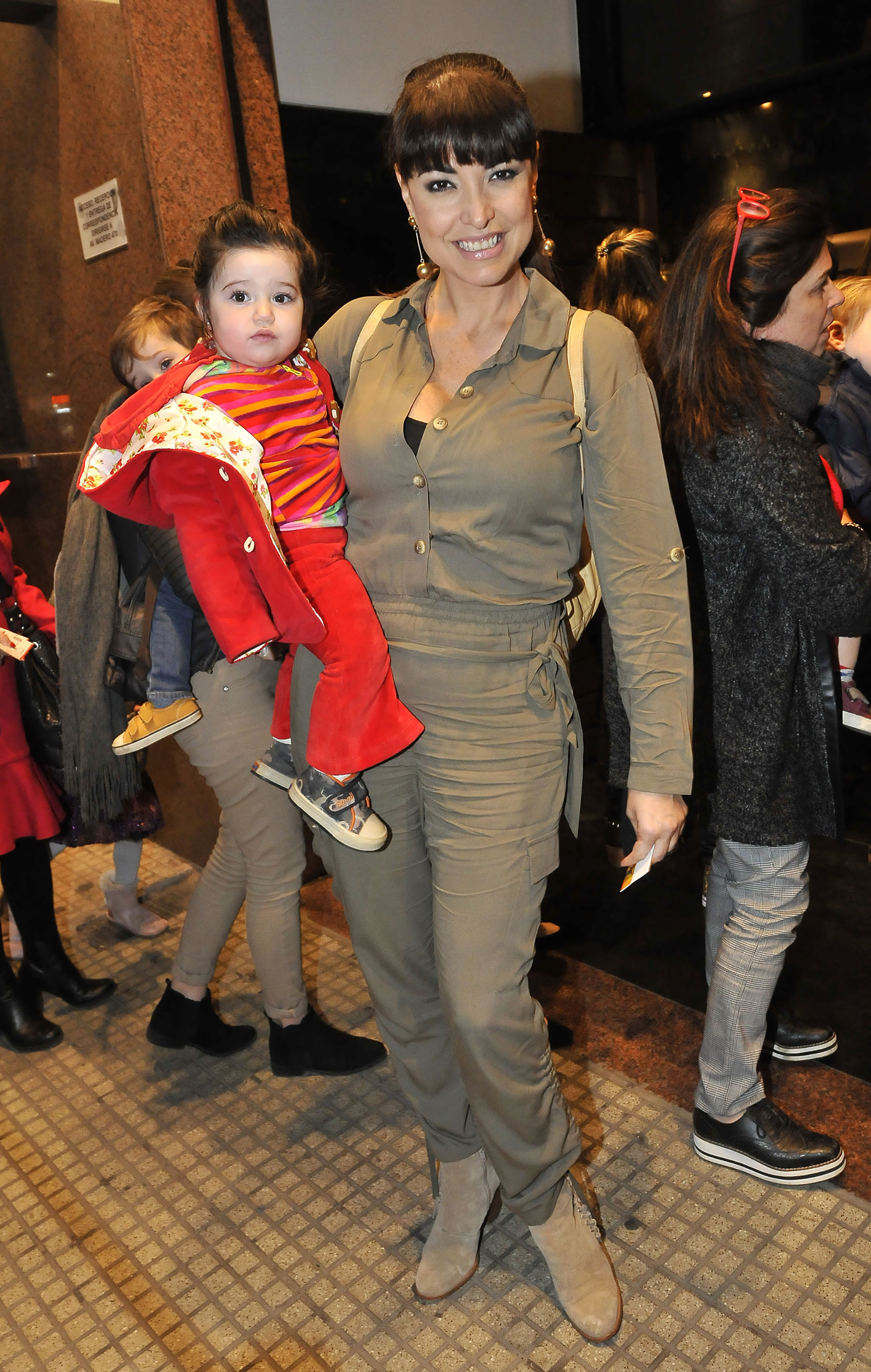Andrea Estévez y su niña, Hanna, fruto de su relación con Juan Manuel García