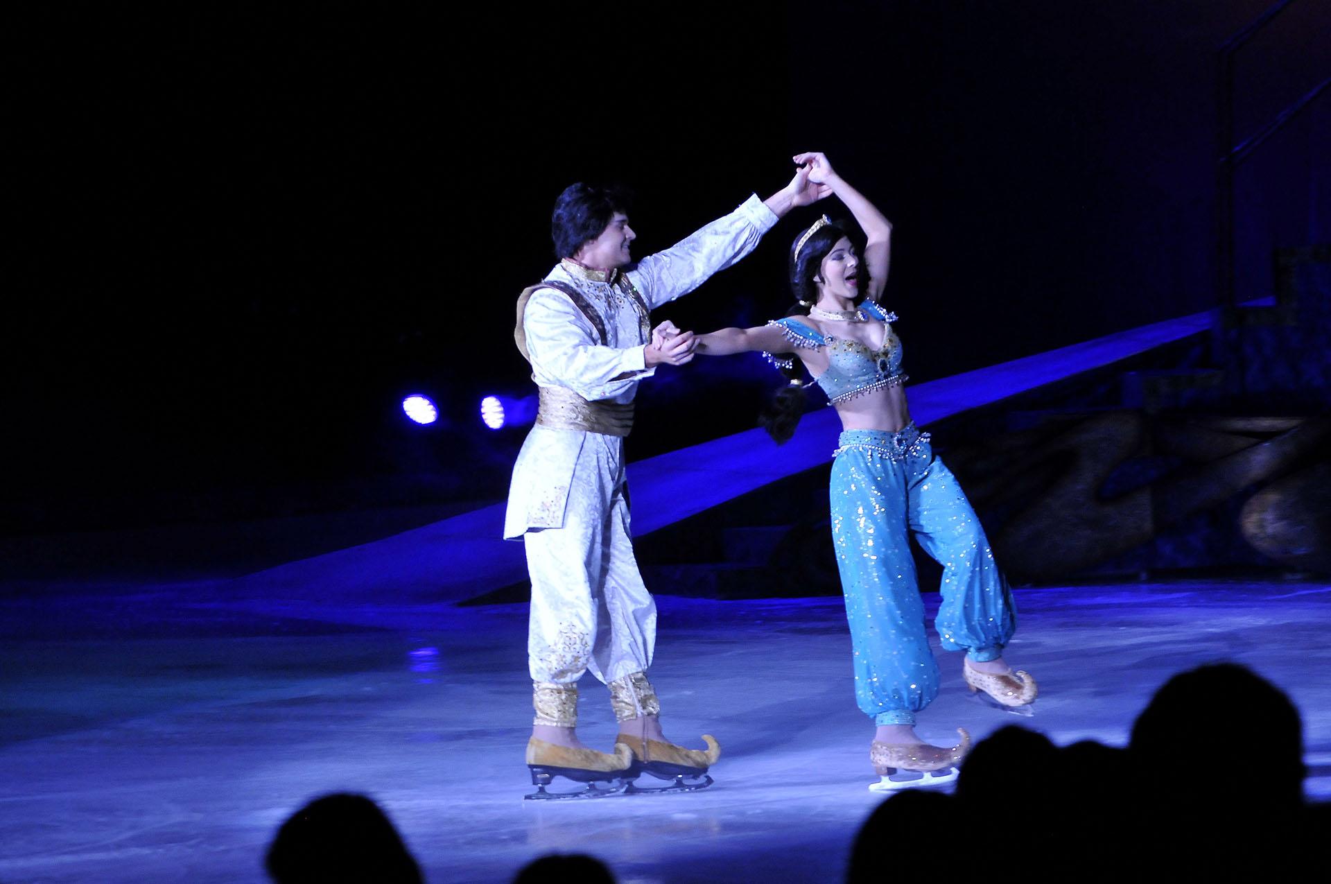 Aladdin y Jazmín brillaron en el escenario
