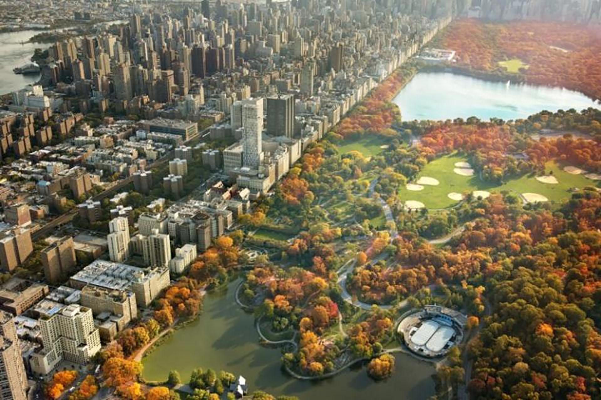 """""""Rascacielos y follaje otoñal en Central Park"""", por JoSon"""