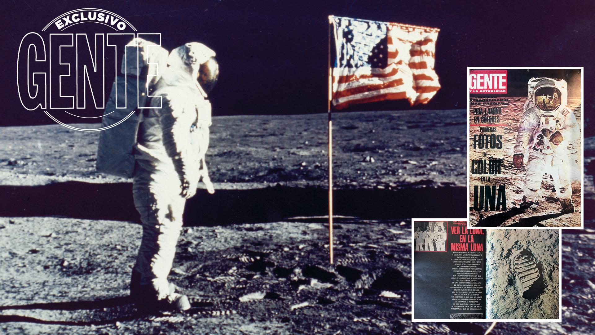 """""""Es la vista de una magnífica desolación"""", dice Armstrong minutos antes de clavar la bandera estadounidense. Junto a Aldrin (el que aparece en la imagen, saludándola, fotografiado por Neil), venía de consumar las primeras observaciones sobre el suelo selenita. La misión del Apolo 11 acaba de cumplir su objetivo central: que un ser humano camine sobre la superficie lunar."""