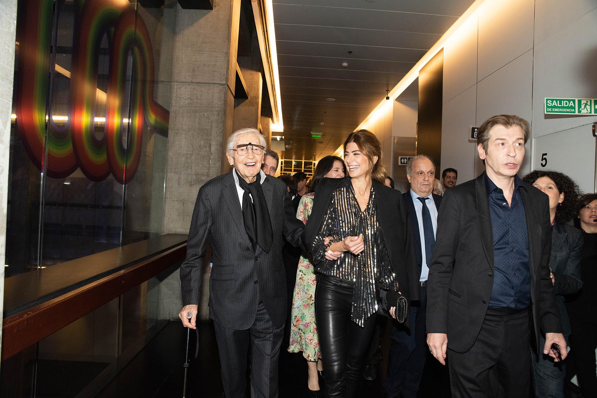 La primera dama recorrió los 3 mil metros de obra junto al gran artista Julio Le Parc