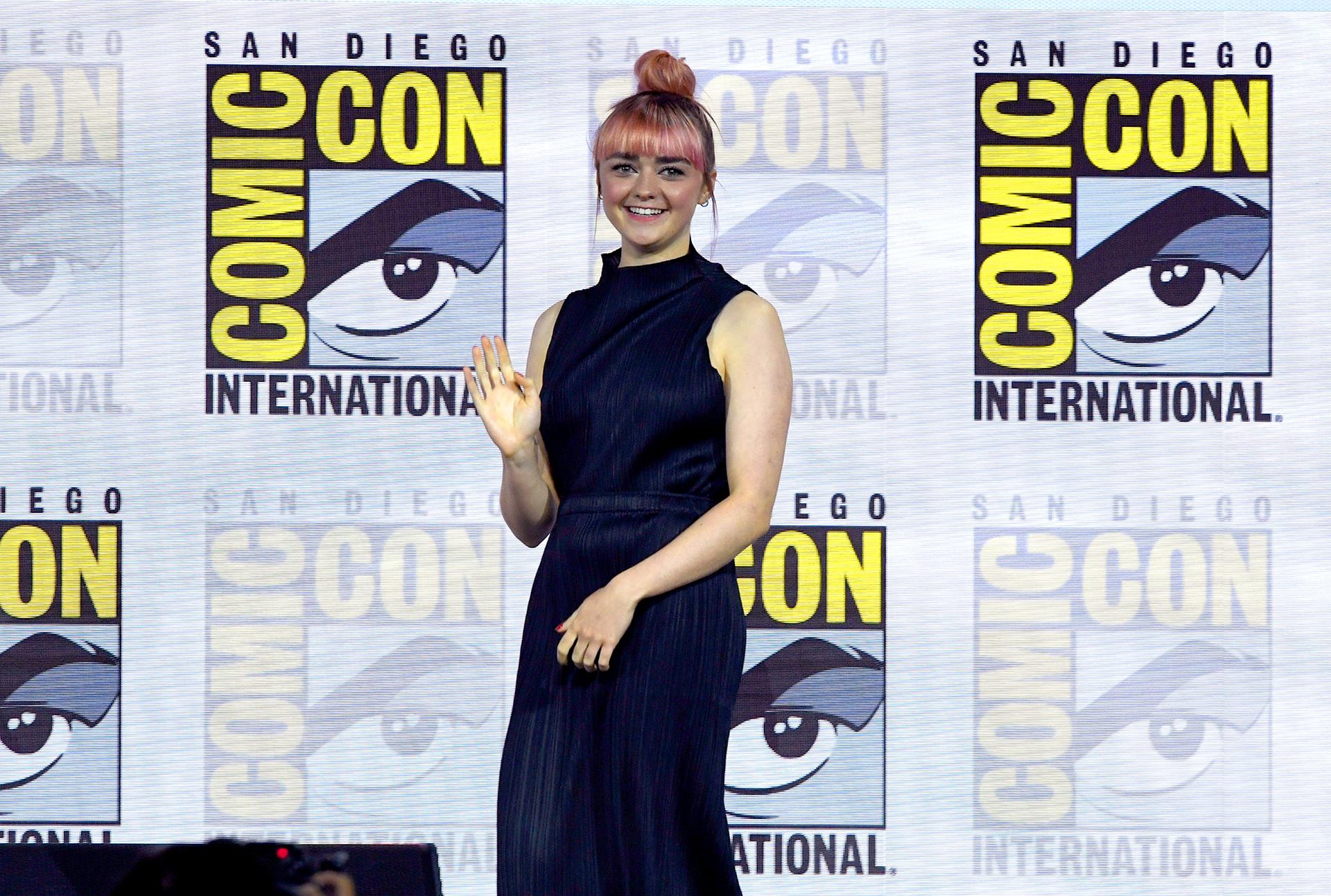 La actriz Maisie Williams del elenco de 'Game Of Thrones'