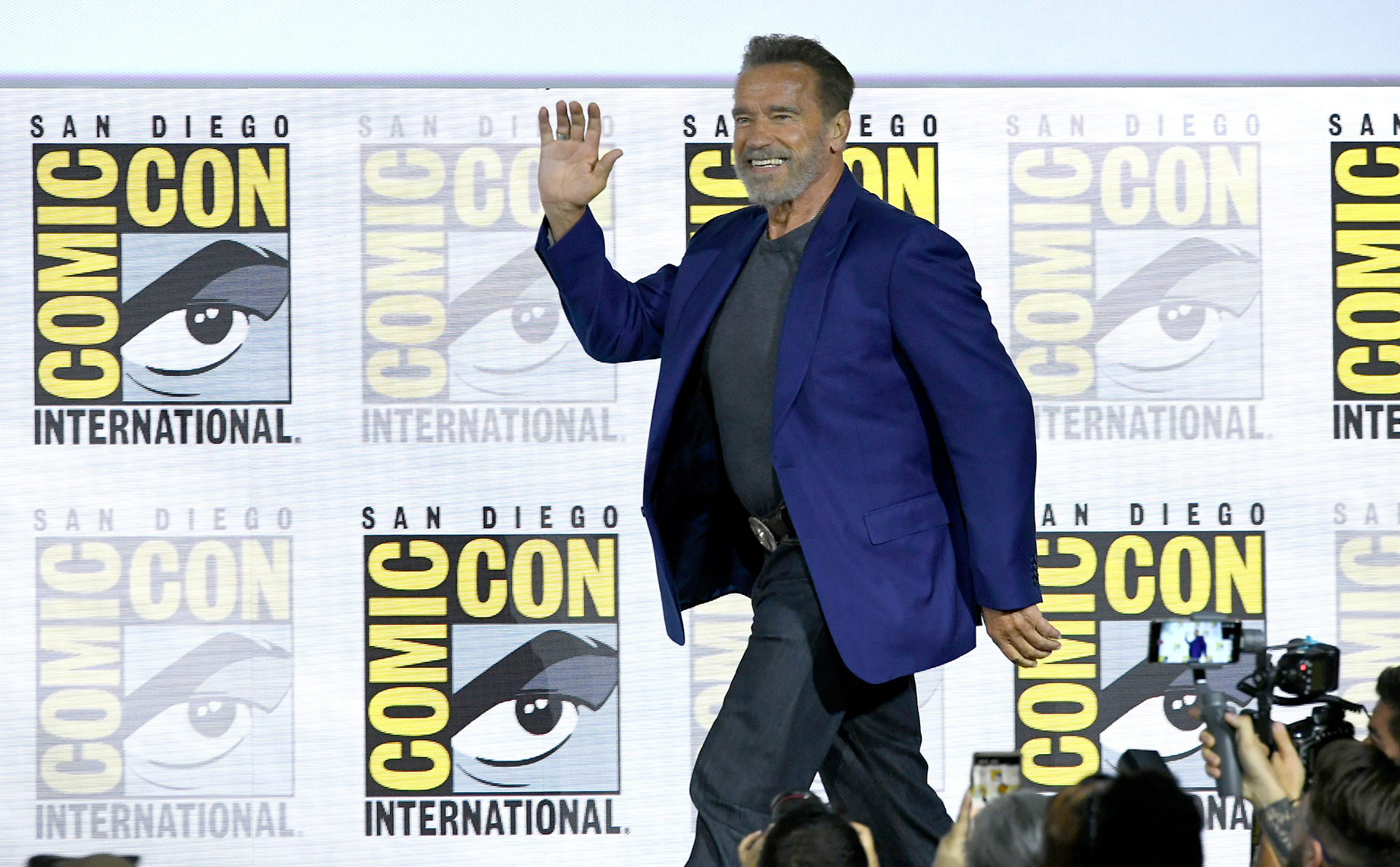 Arnold Schwarzenegger también fue convocado para participar del panel que presentó el trailer de 'Terminator:Dark Fate'