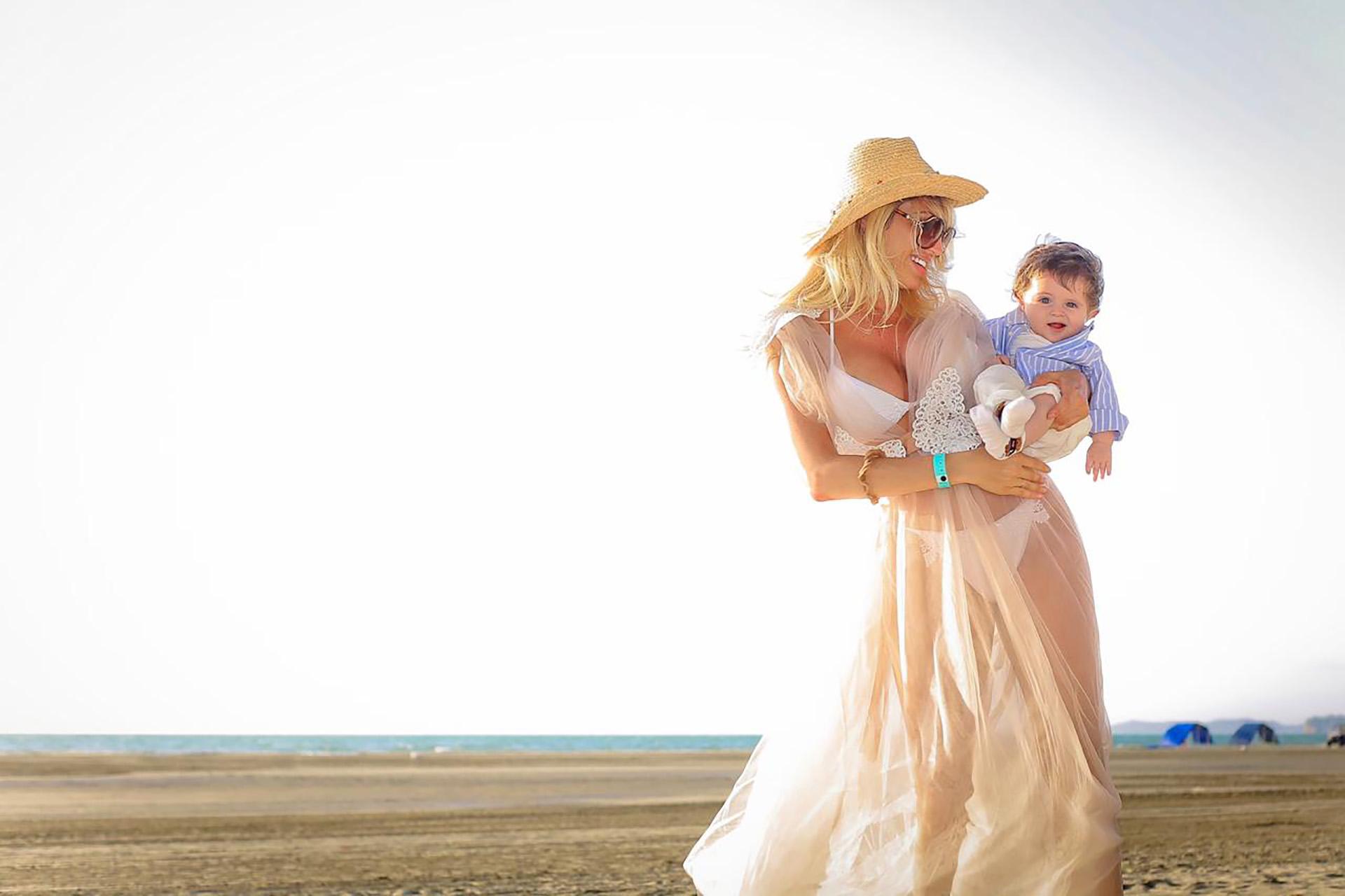 Muy emocionada, le contó a Teleshow que disfrutó de todos los momentos que compartió con el pequeño en su primer viaje juntos y a solas