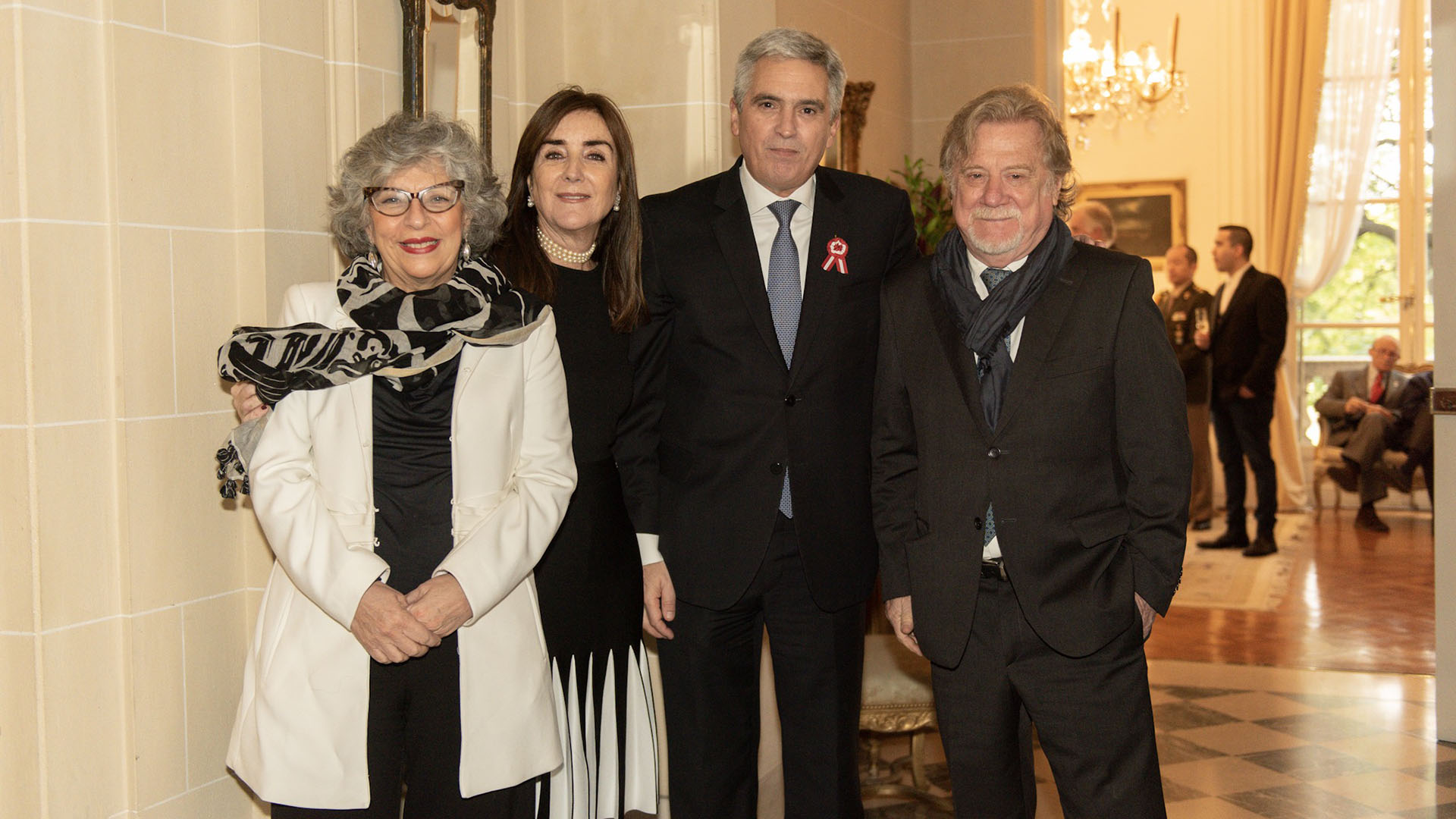 Ricardo Kirschbaum, editor general del diario Clarín, y la arquiteca Silvia Fajre,experta en gestión cultural y patrimonial