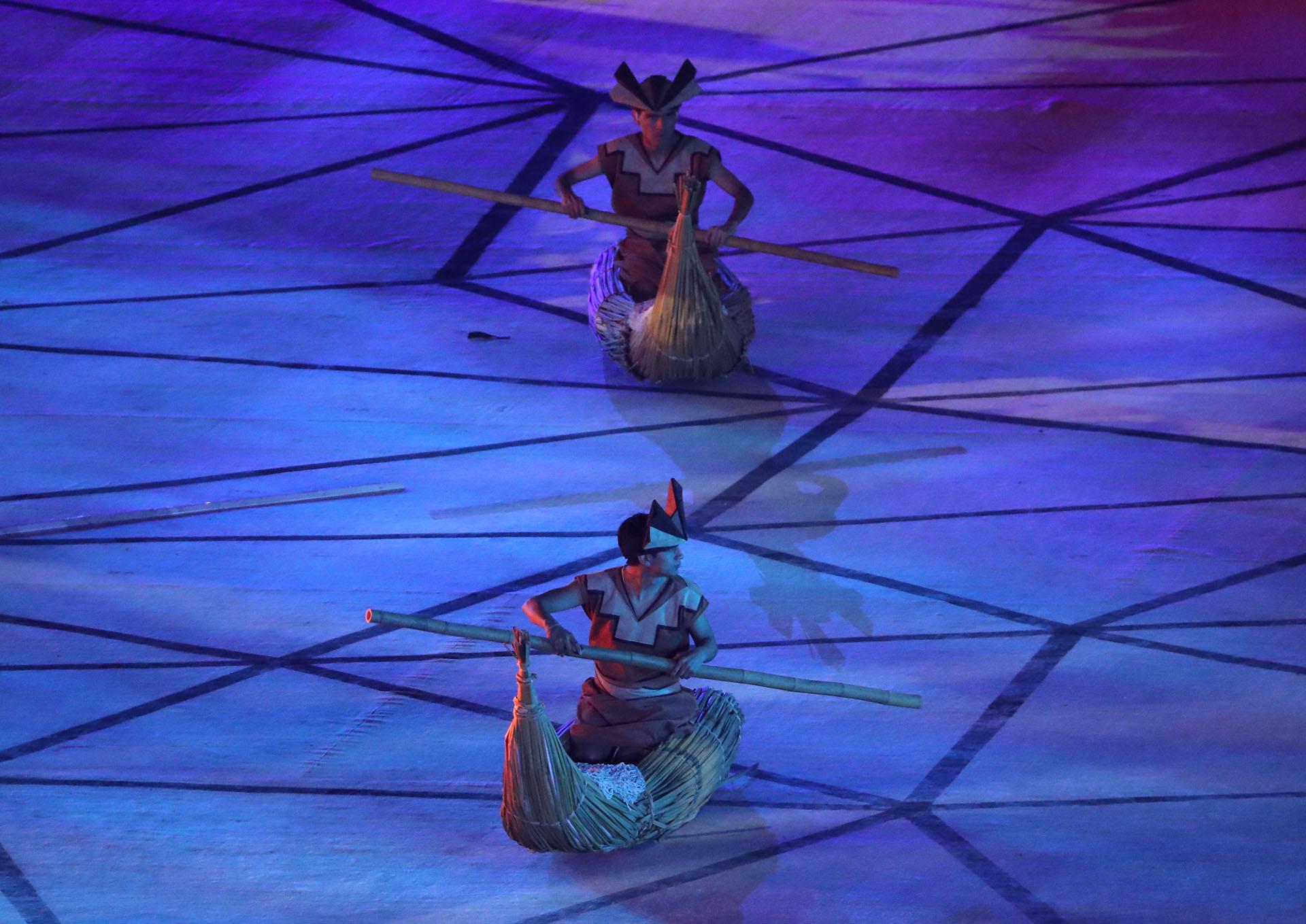 La historia milenaria del Perú fue protagonista de la ceremonia de apertura de Lima 2019 (REUTERS/Sergio Moraes)