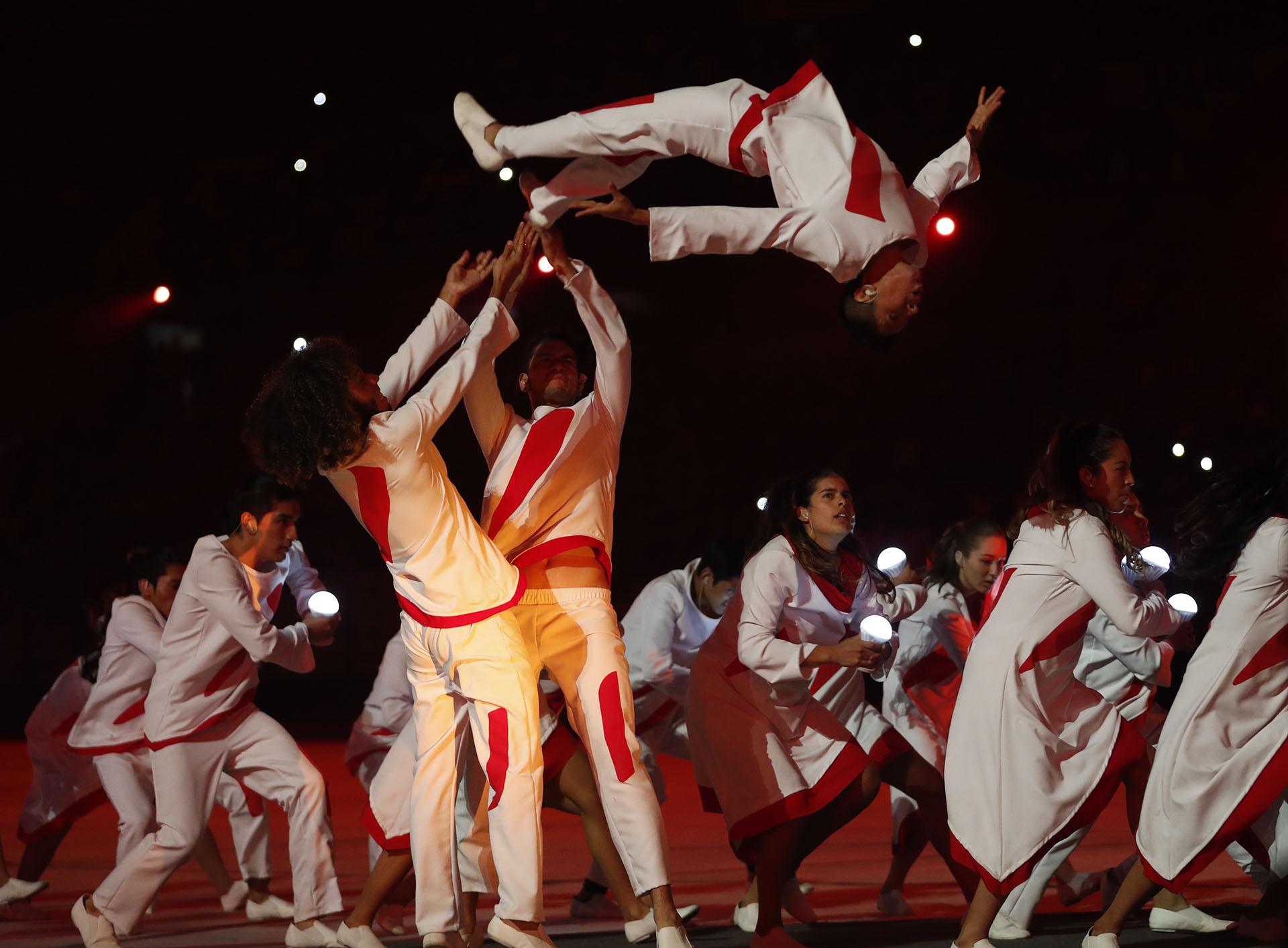La ceremonia de apertura de Lima 2019 se llevó a cabo en la víspera de los festejos del Día de la Independencia de Perú (REUTERS/Susana Vera)