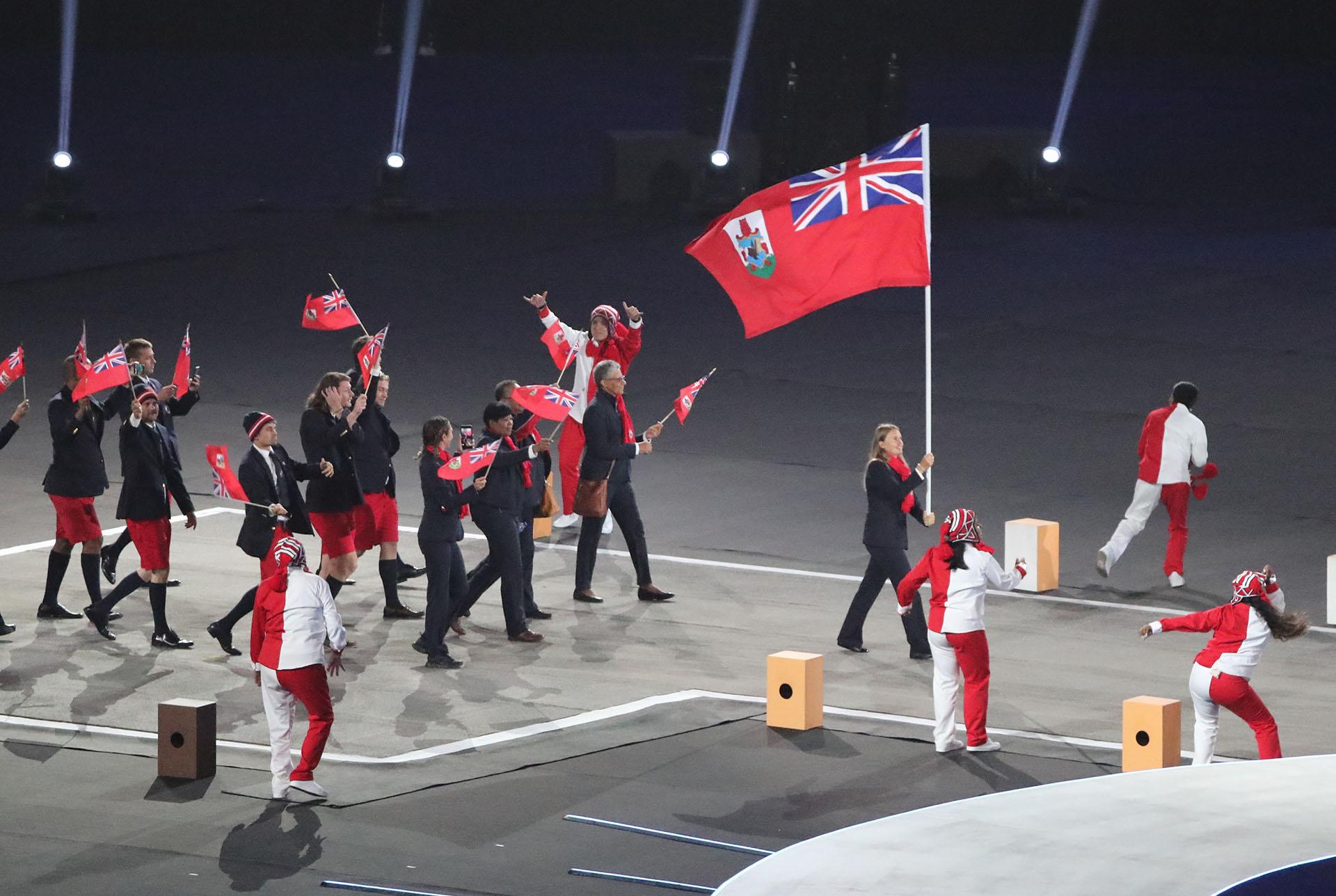 Bermuda desfila en la ceremonia inaugural de los Juegos Panameicanos Lima 2019 (REUTERS/Sergio Moraes)