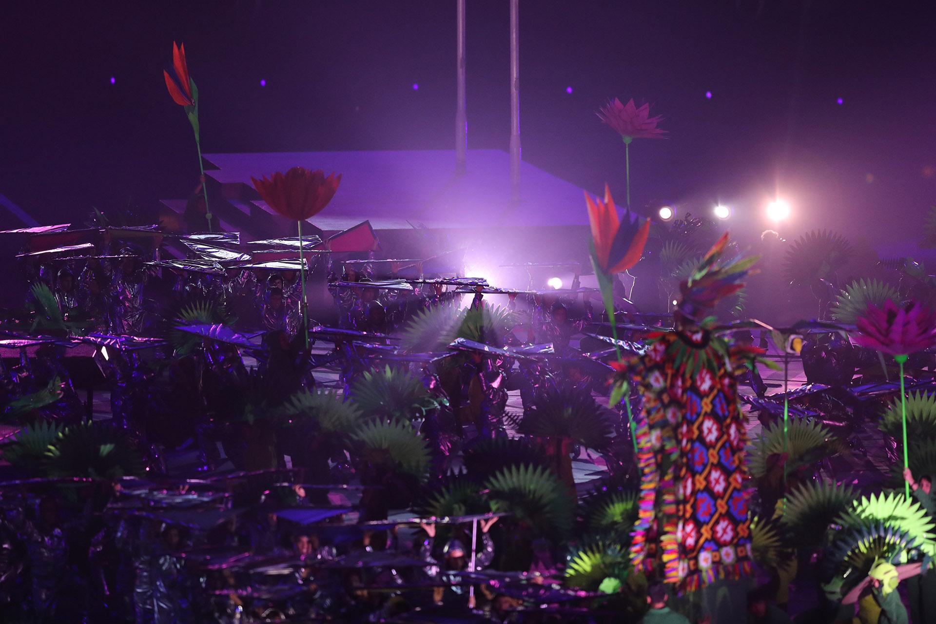 El show de la ceremonia de apertura se extendió por más de dos horas (REUTERS/Ivan Alvarado)