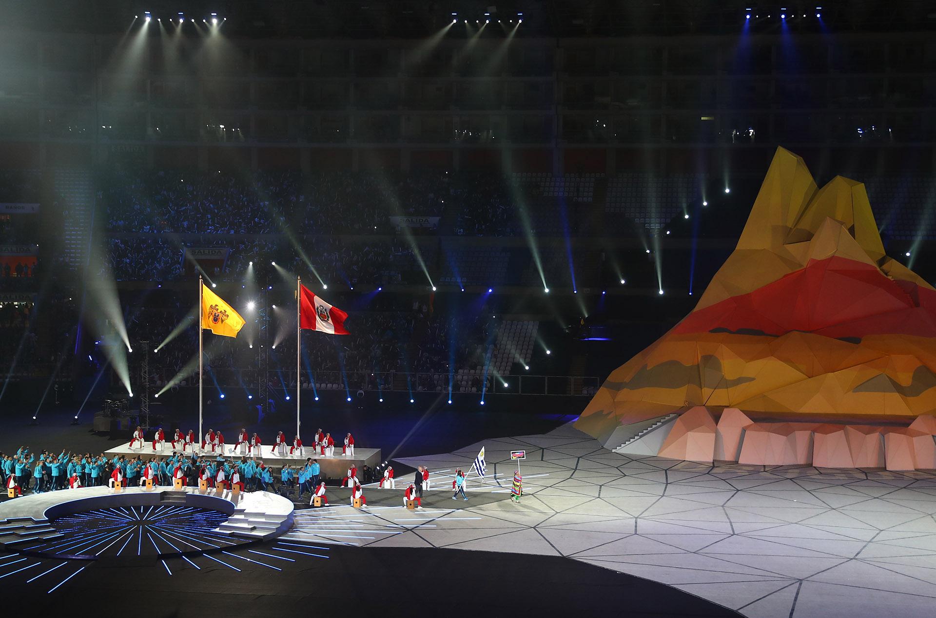 Una postal de la ceremonia de apertura de los Juegos Panamericanos (REUTERS/Pilar Olivares)