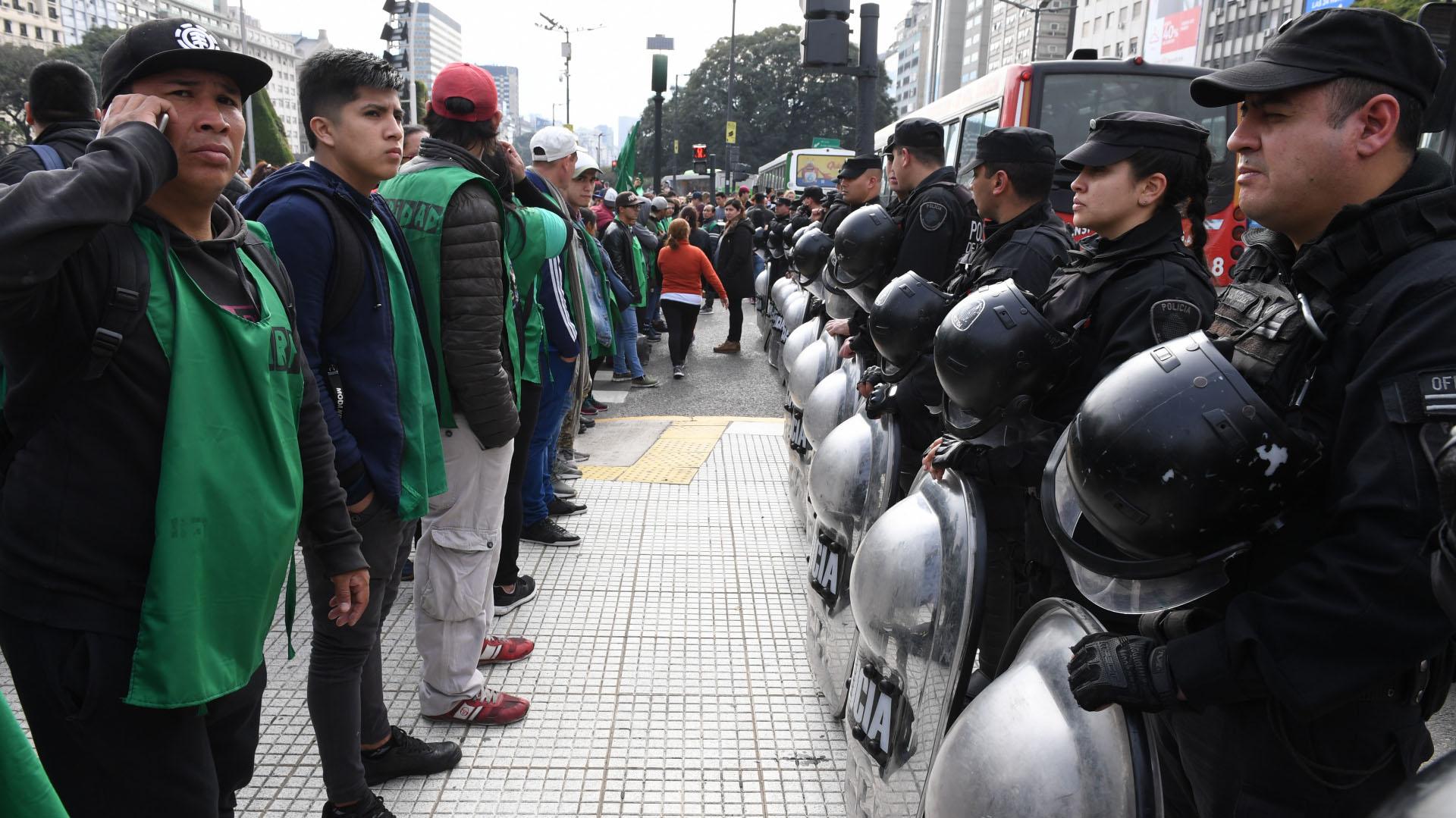 En el marco del amplio operativo de seguridad no se registraron incidentes con los manifestantes