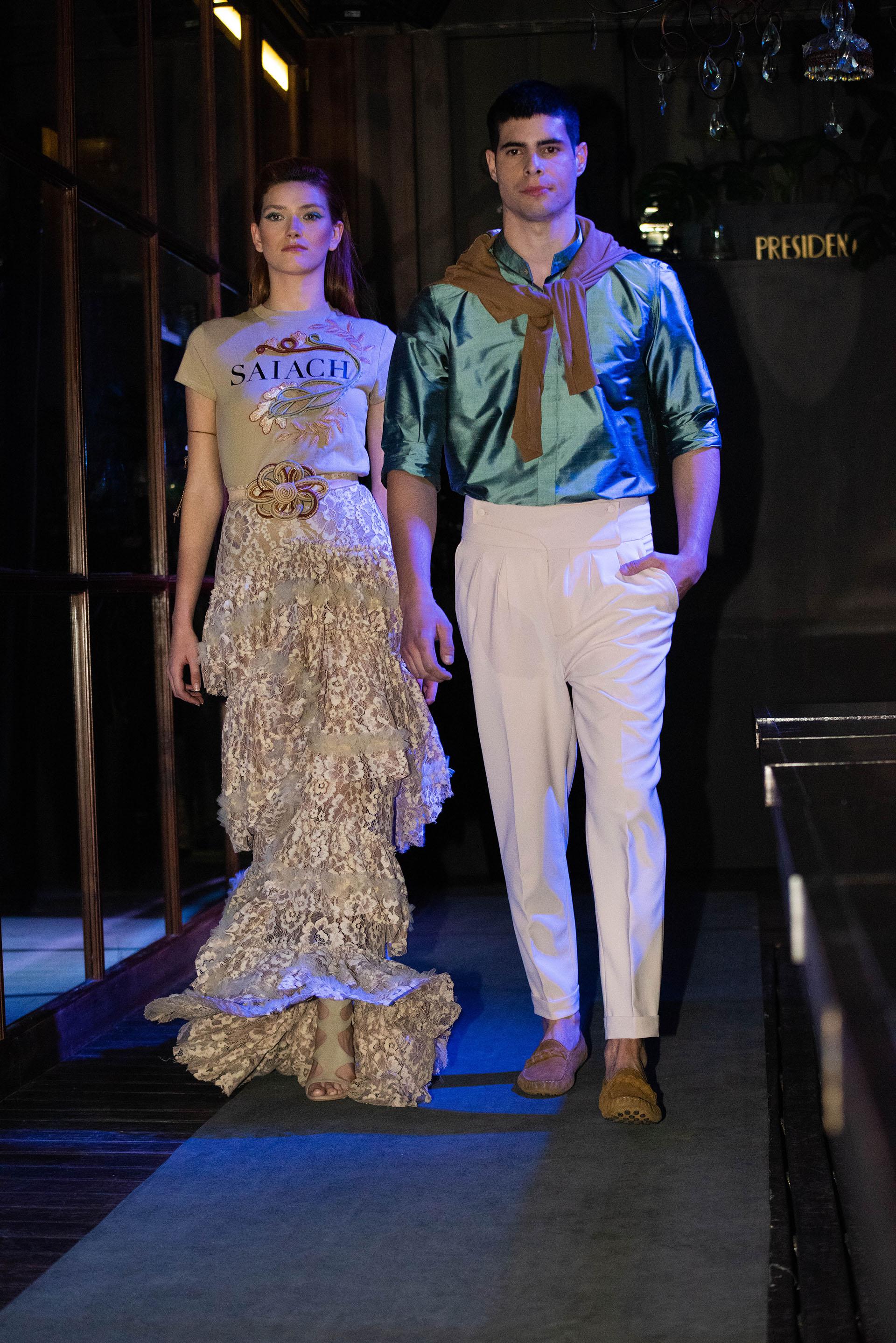 Además presentó un línea novedosa con prendas ready to wear y piezas unisex