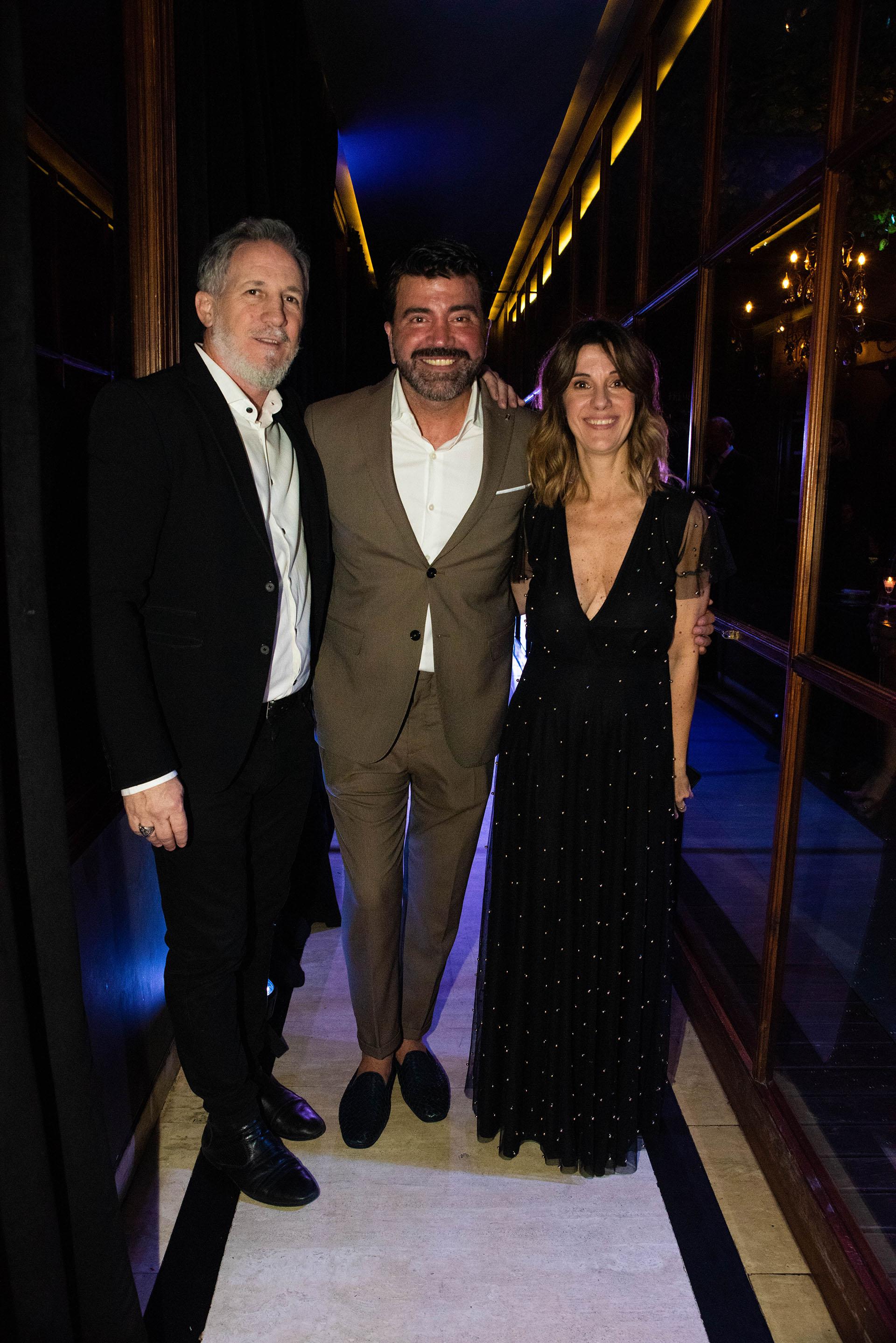 Mariano Maciel, Javier Saiach y Alejandra Alburquerque