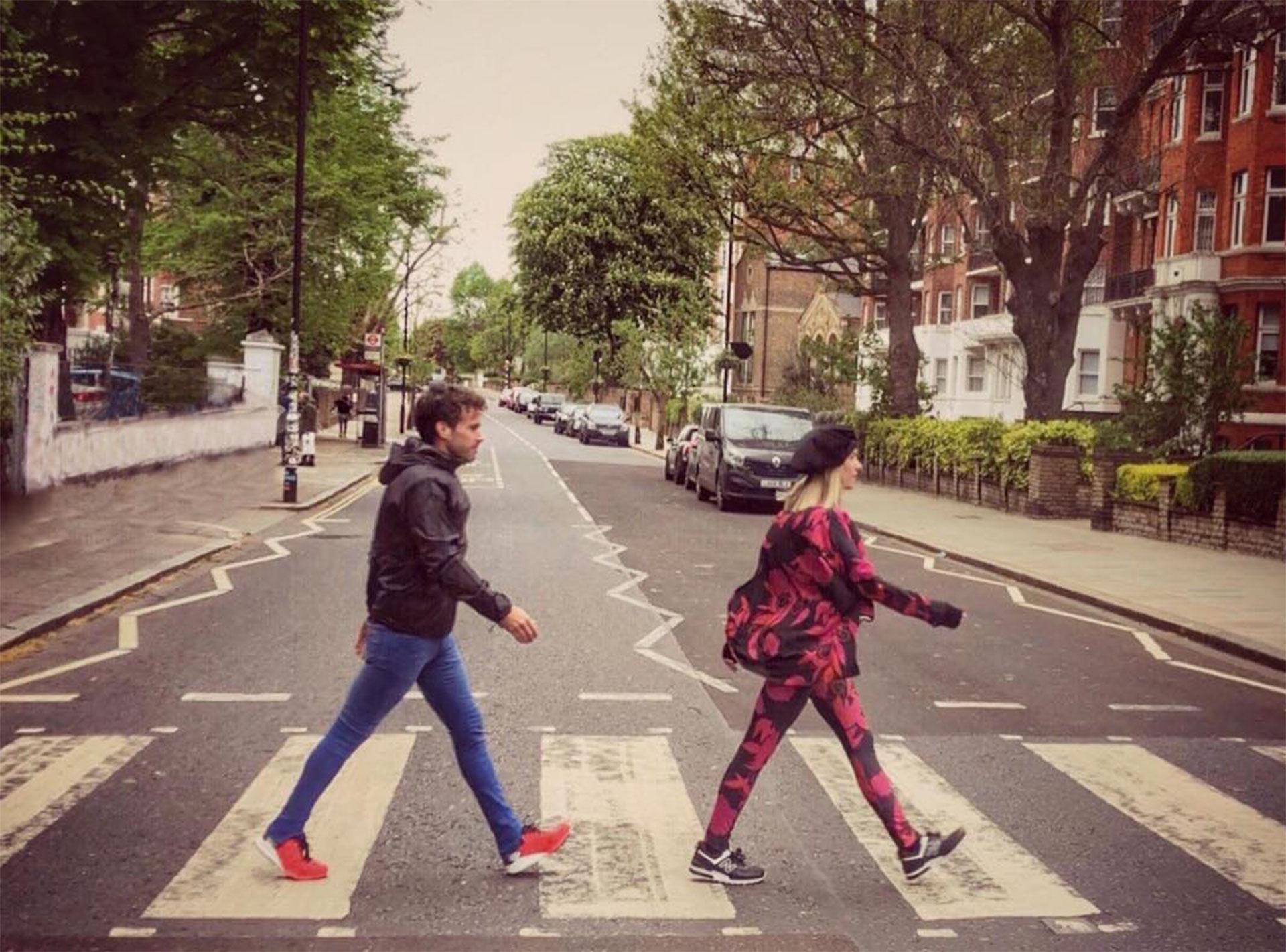 En abril Laurita acompañó a Londres al actor para correr una maratón.
