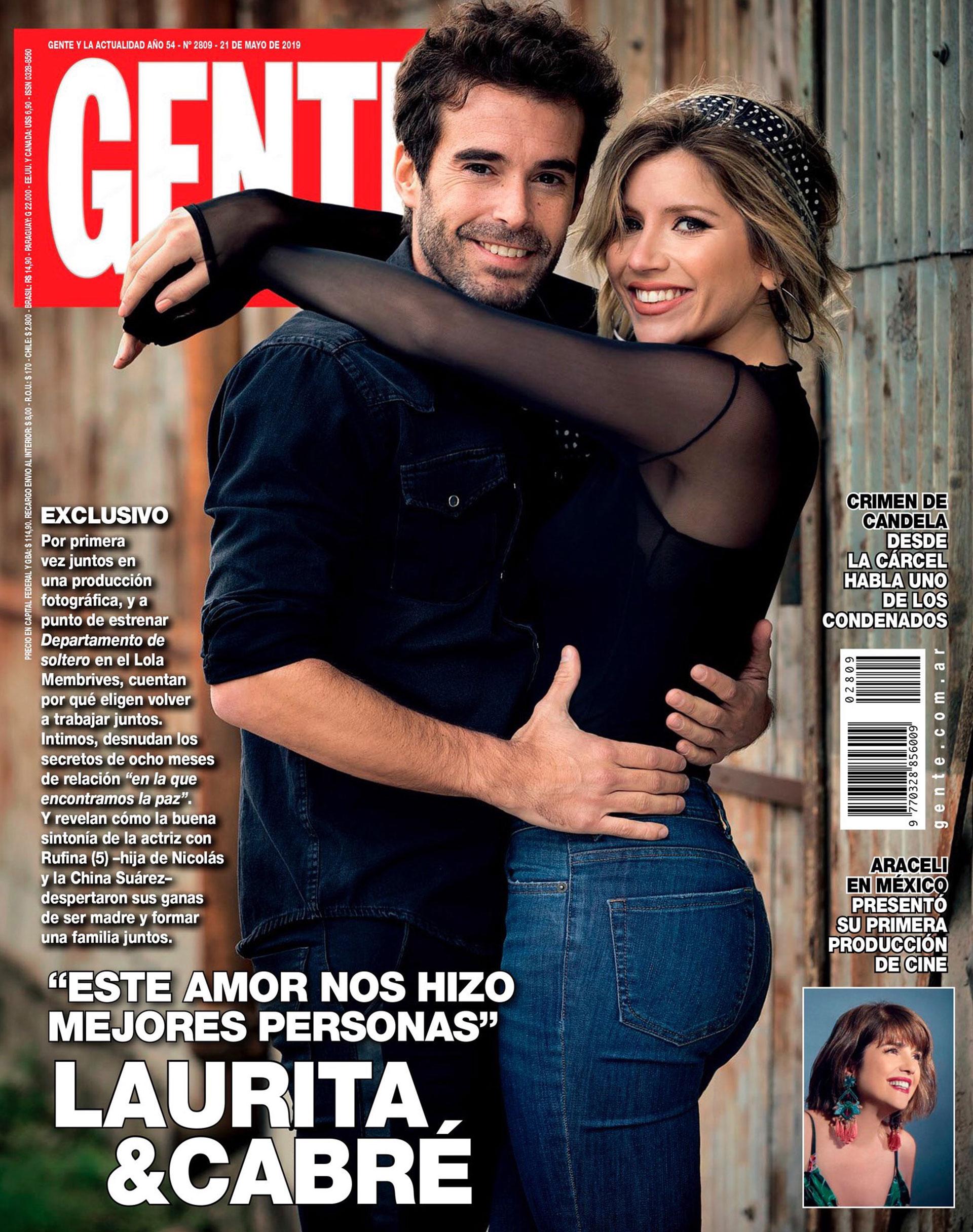 Nicolás Cabré y Laurita Fernández en la tapa de GENTE (21/5/2019)