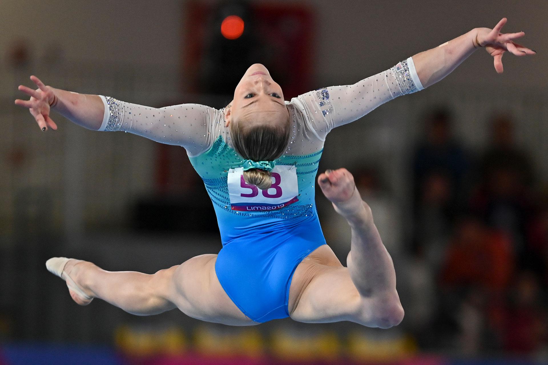 La estadounidenseRiley McCusker. (Photo by Luis ROBAYO / AFP)