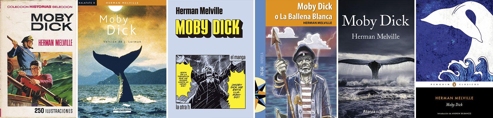 Diferentes ediciones de Moby Dick en español