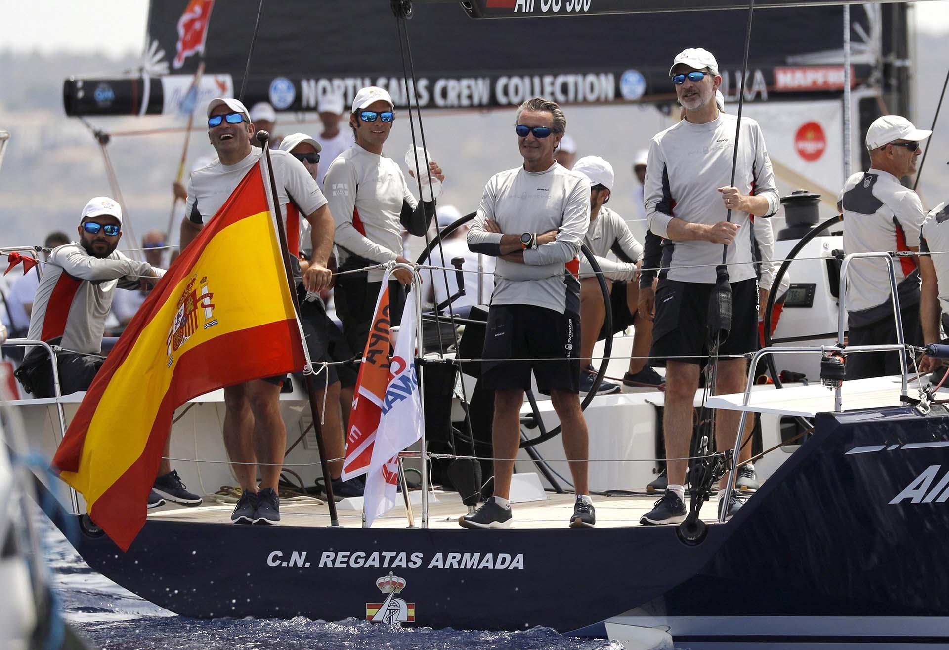 """El barcro del rey ocupa el séptimo puesto en la clase ClubSwan 50, dominada por el italiano """"Cuordileone"""""""