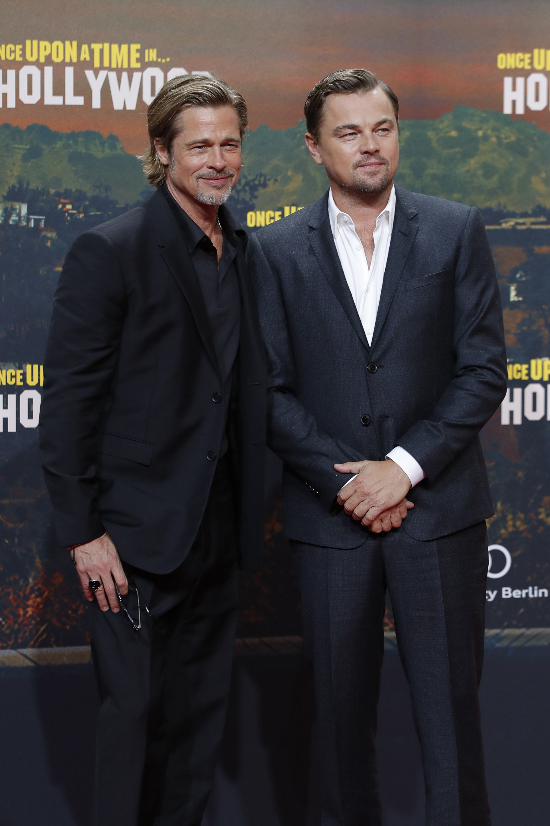 "Leonardo DiCaprio y Brad Pitt juntos en la exclusiva alfrombra roja de la premiere del film ""Once upon a time in Hollywood"""
