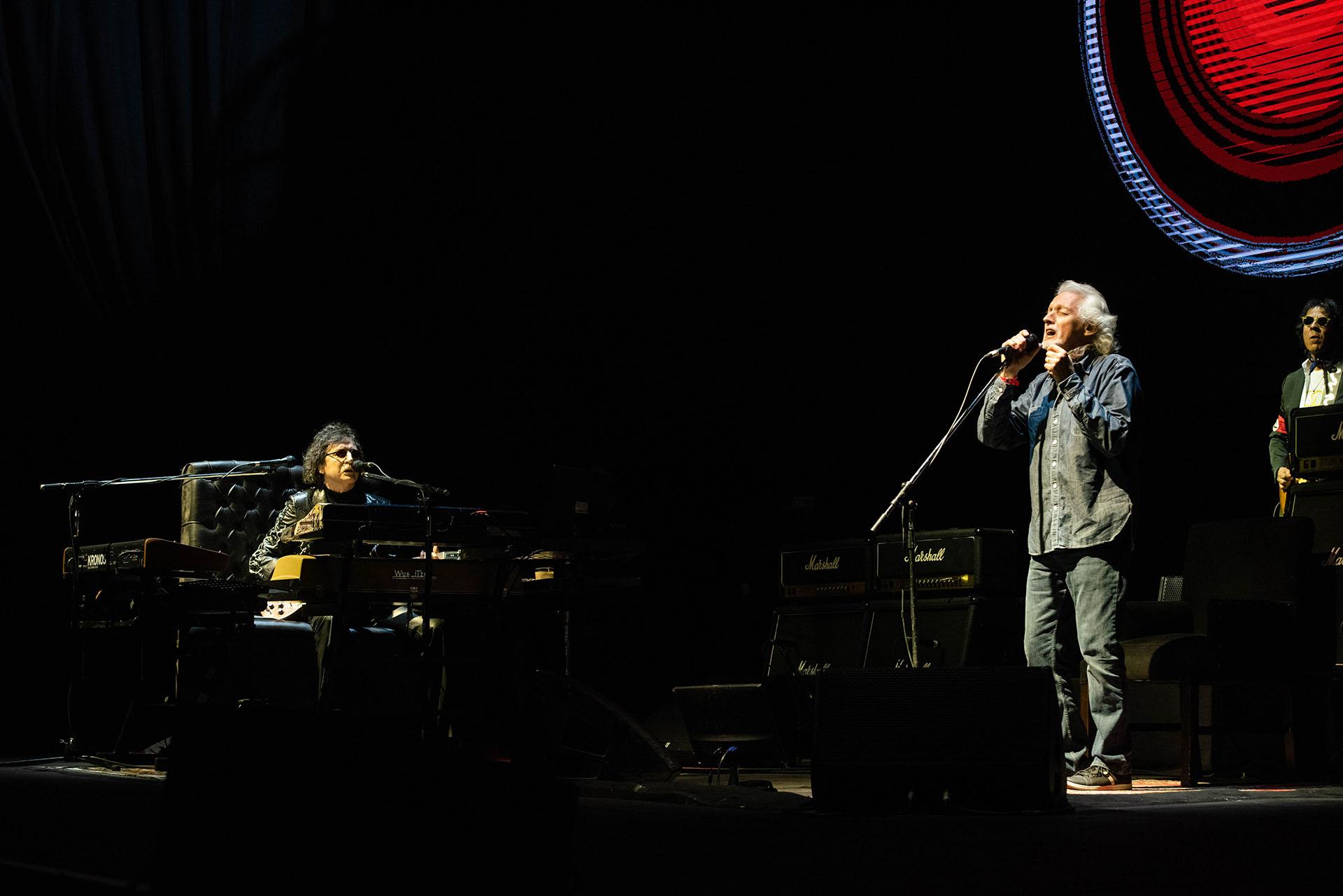 Los músicos volvieron a compartir el escenario del microestadio porteño, a siete años de su último encuentro