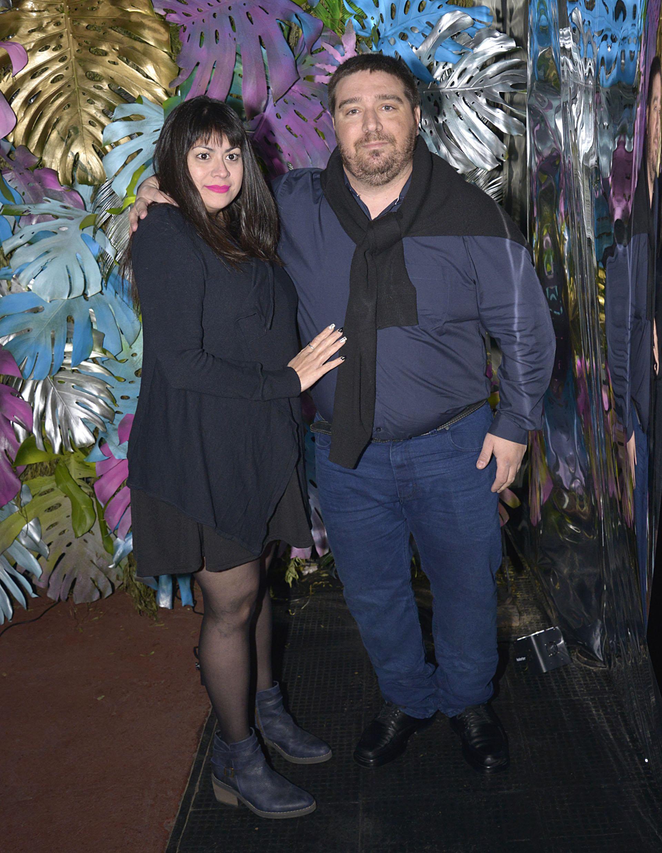 Gastón Marote y su mujer