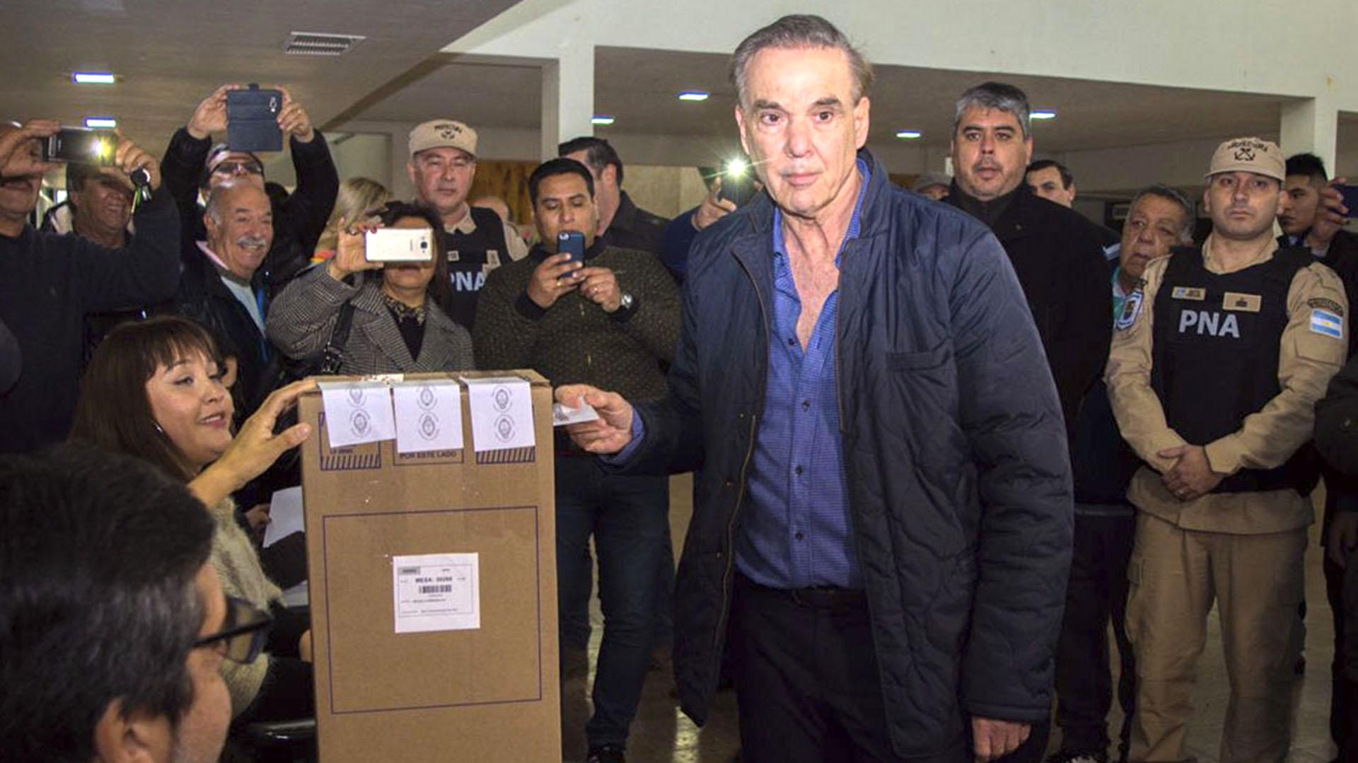 El candidato a vicepresidente por Juntos por el Cambio, Miguel Ángel Pichetto