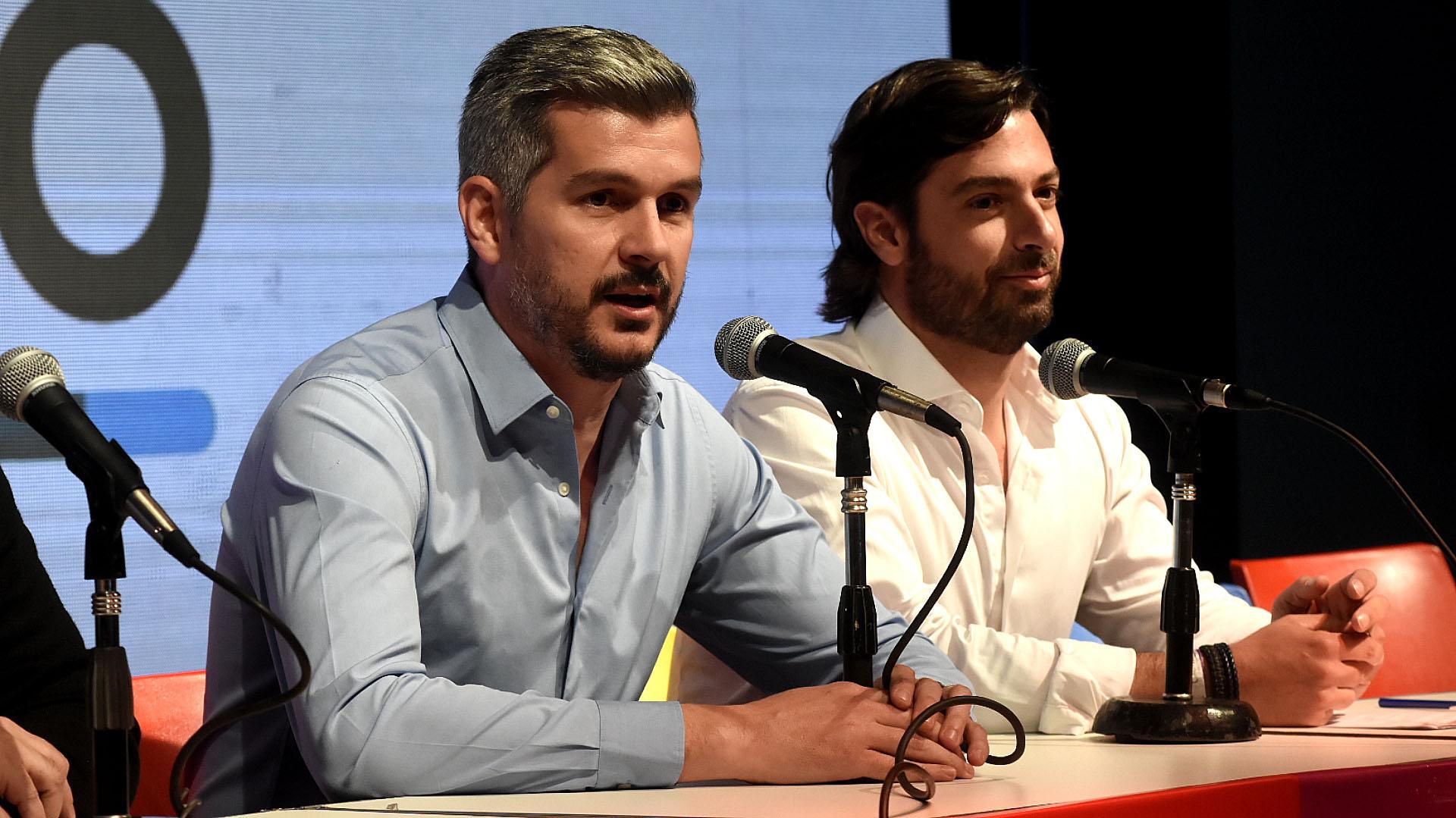"""Marcos Peña, que cuando aún no se conocían los resultados advirtió que Juntos por el Cambio había realizado una """"muy buena elección"""" (Nicolas Stulberg)"""