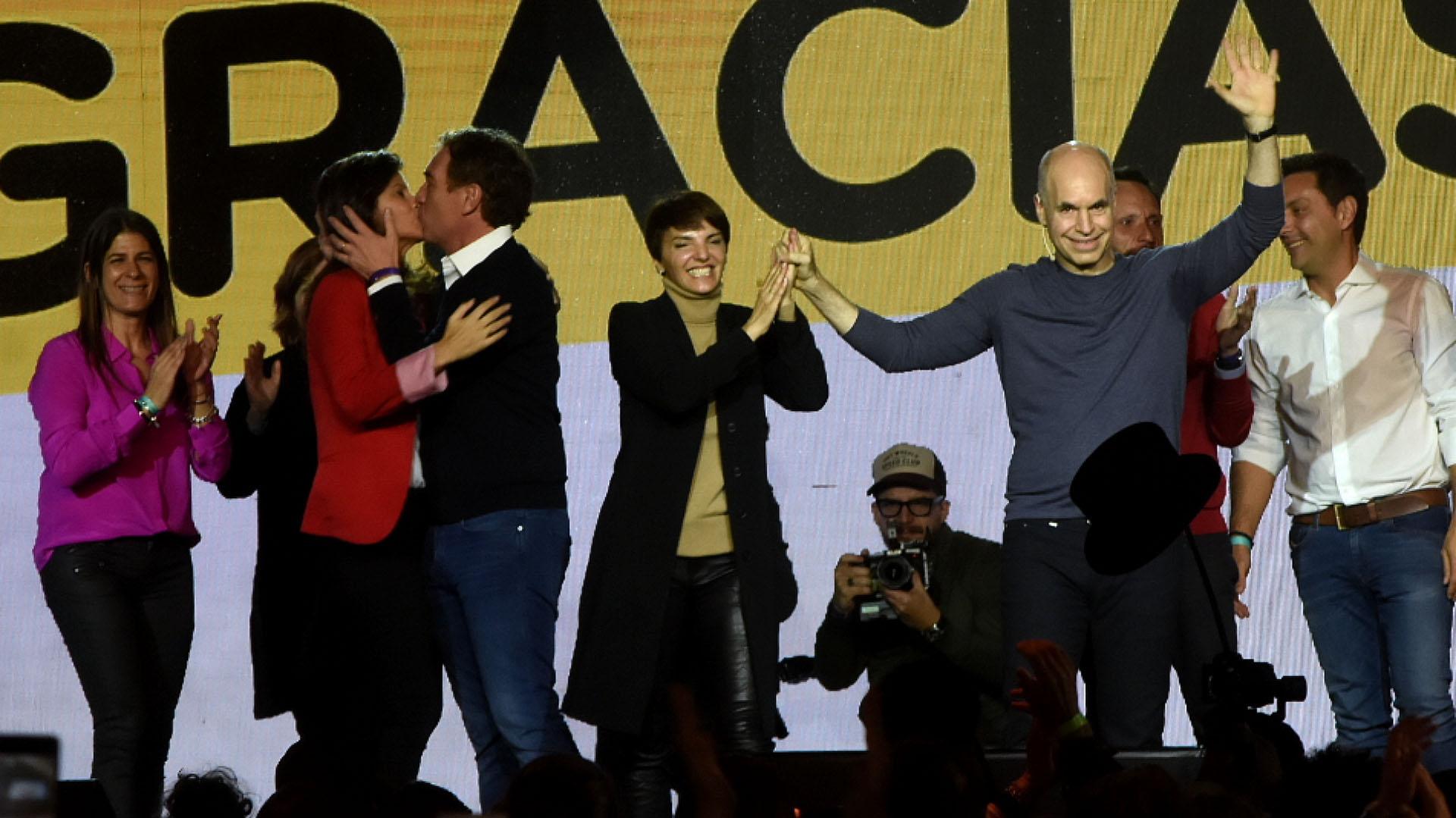 Horacio Rodríguez Larreta fue el único representante de Juntos por el Cambio que pudo celebrar durante las PASO (Nicolás Stulberg)
