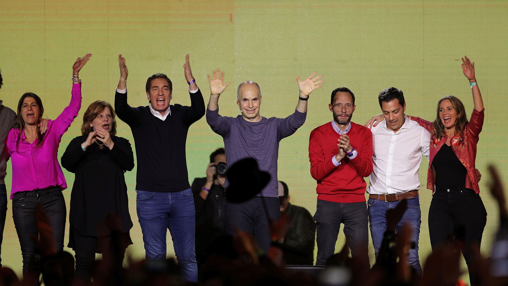 Horacio Rodriguez Larreta y su equipo, los únicos dirigentes del oficialismo que ganaron en las PASO (REUTERS/Luisa Gonzalez)