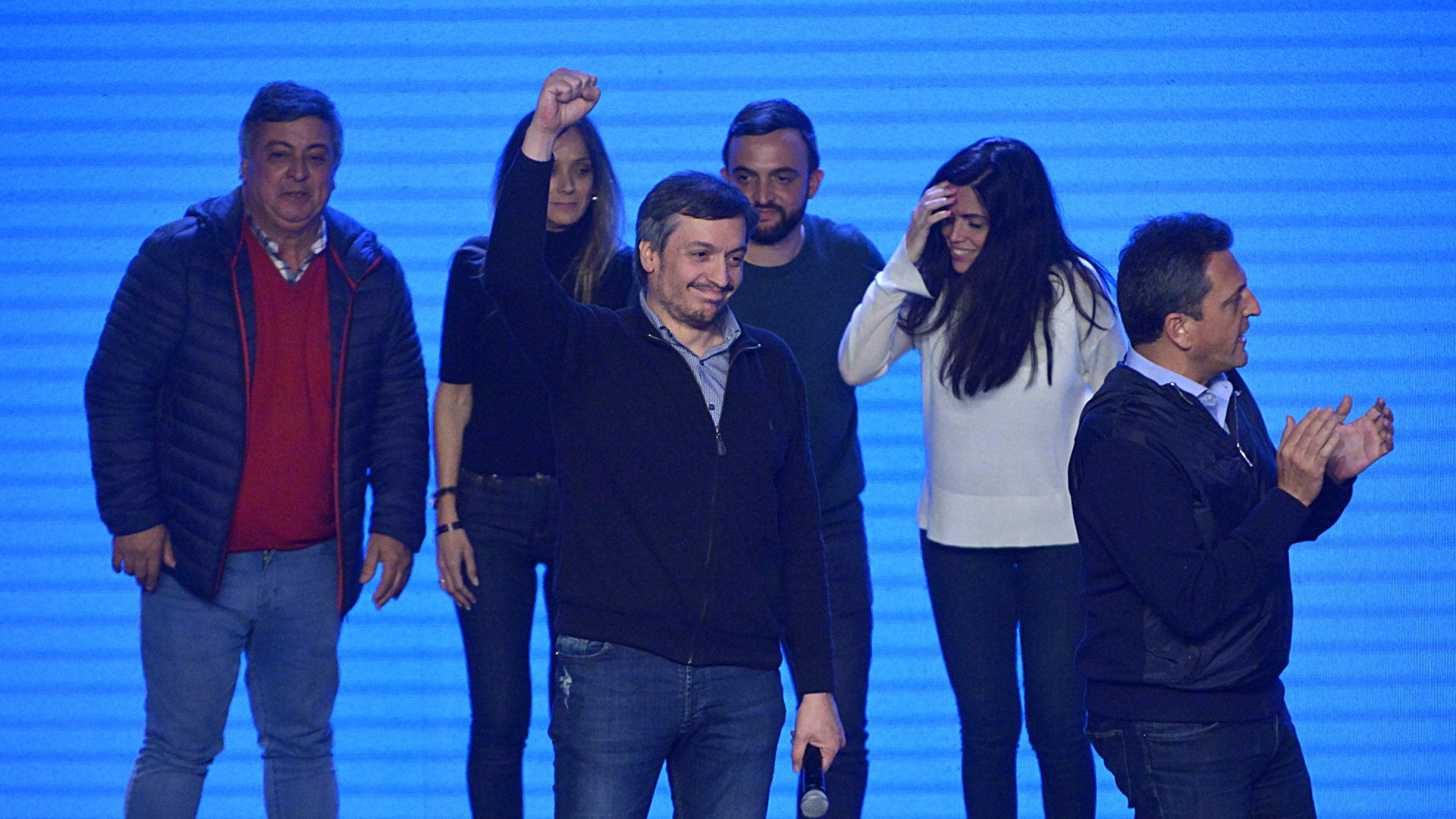 Máximo Kirchner se mostró emocionado con la victoria del Frente de Todos (Gustavo Gavotti)