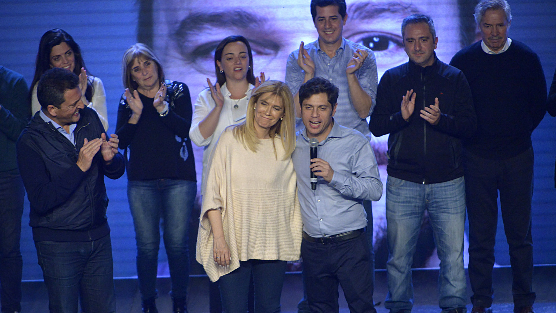 Verónica Magario y Axel Kiciloff, los precandidatos del Frente para Todos en la Provincia de Buenos Aires (Gustavo Gavotti)