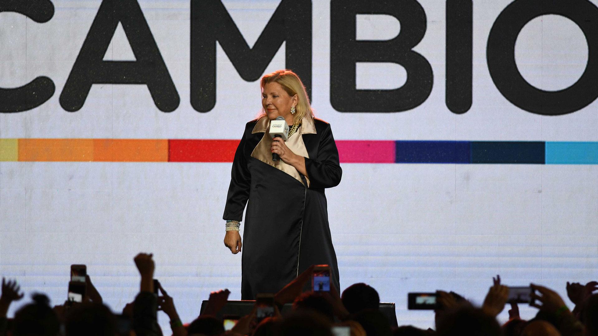 """Elisa Carrió quiso dar un discurso enérgico y optimista pese a los malos resultados en las PASO: """"En octubre ganamos por más del 50%"""""""