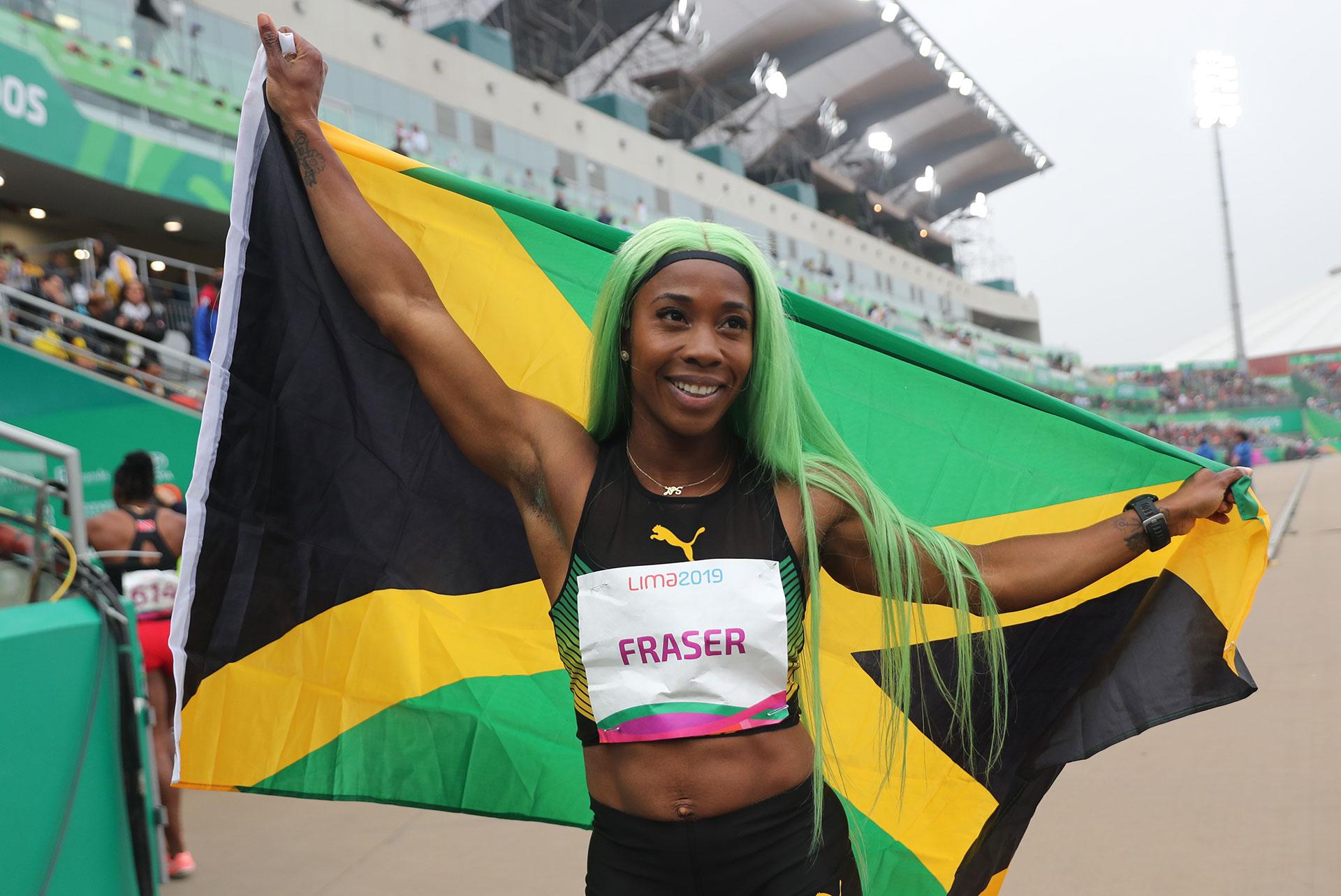 Shelly-Ann Fraser-Price se impuso en los 200 metros y fue una de las grandes animadoras de los Juegos