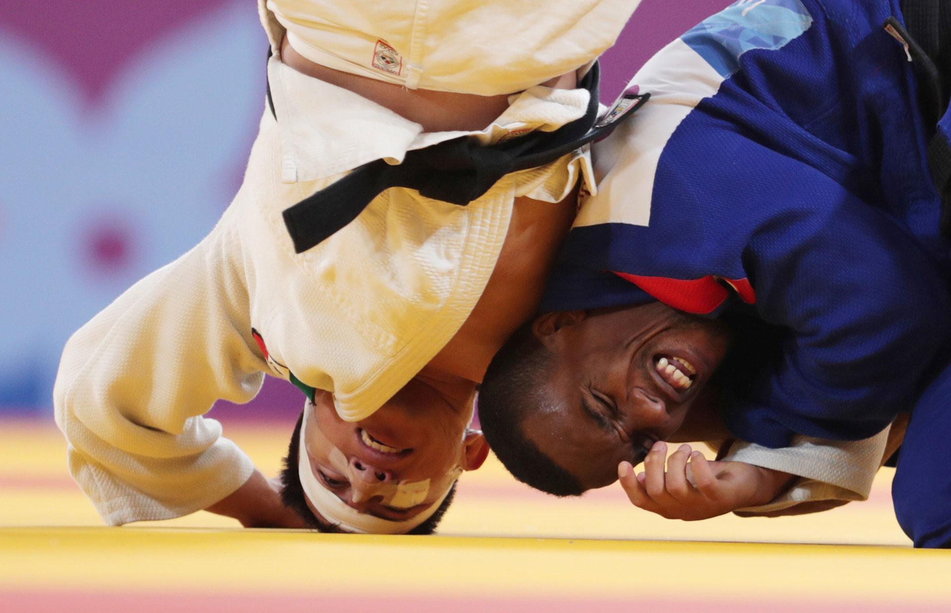 El cubano Osniel Solis y el mexicano Nabor Castillo se midieron en judo