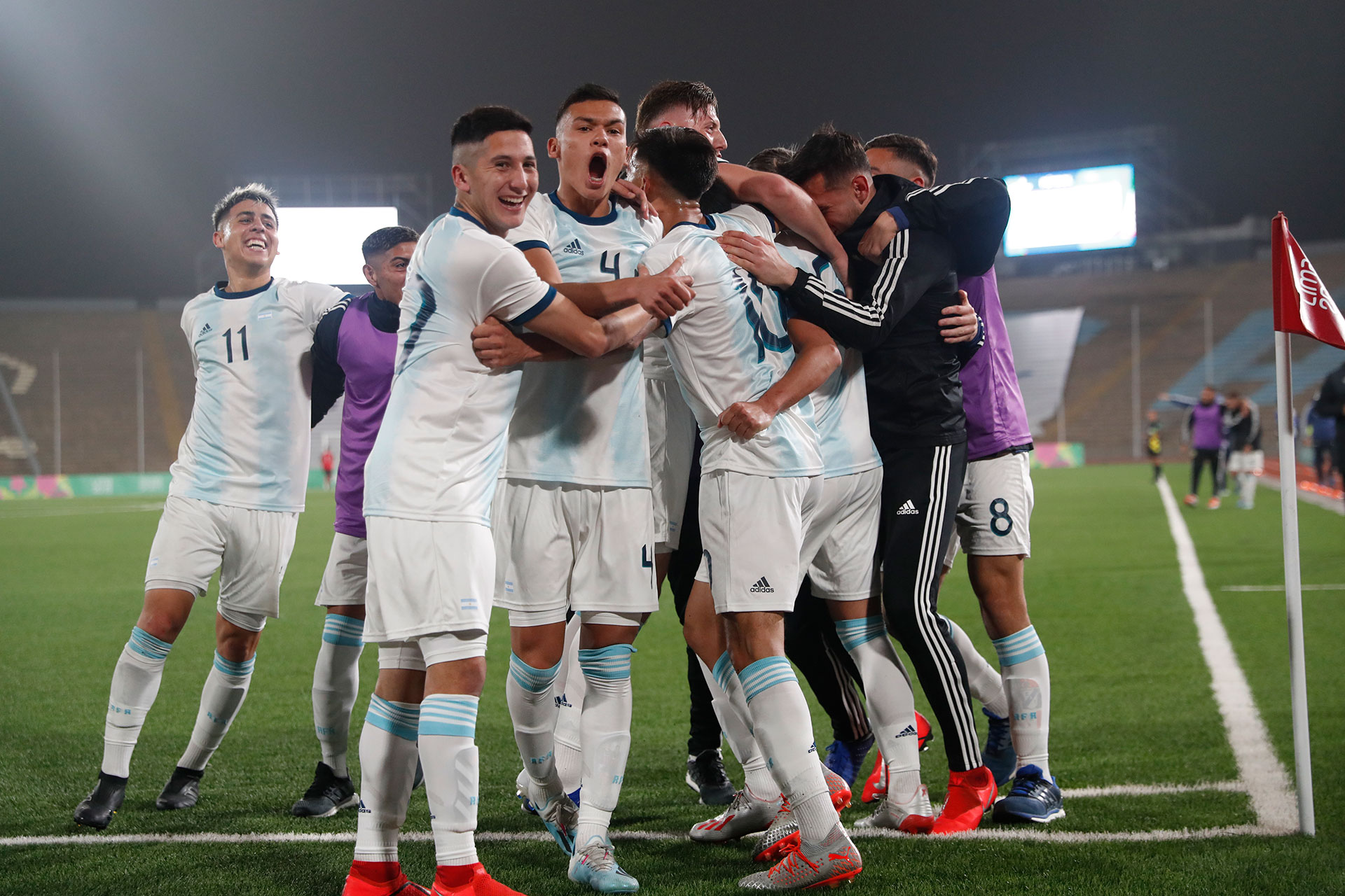 La Sub 23 de Argentina festeja en la final ante Honduras