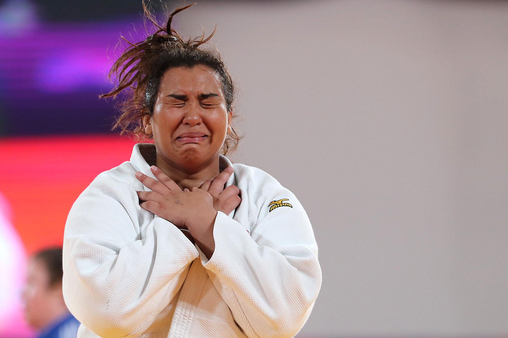 La emoción de la peruana Yuliana Bolivar al quedarse con el bronce en judo