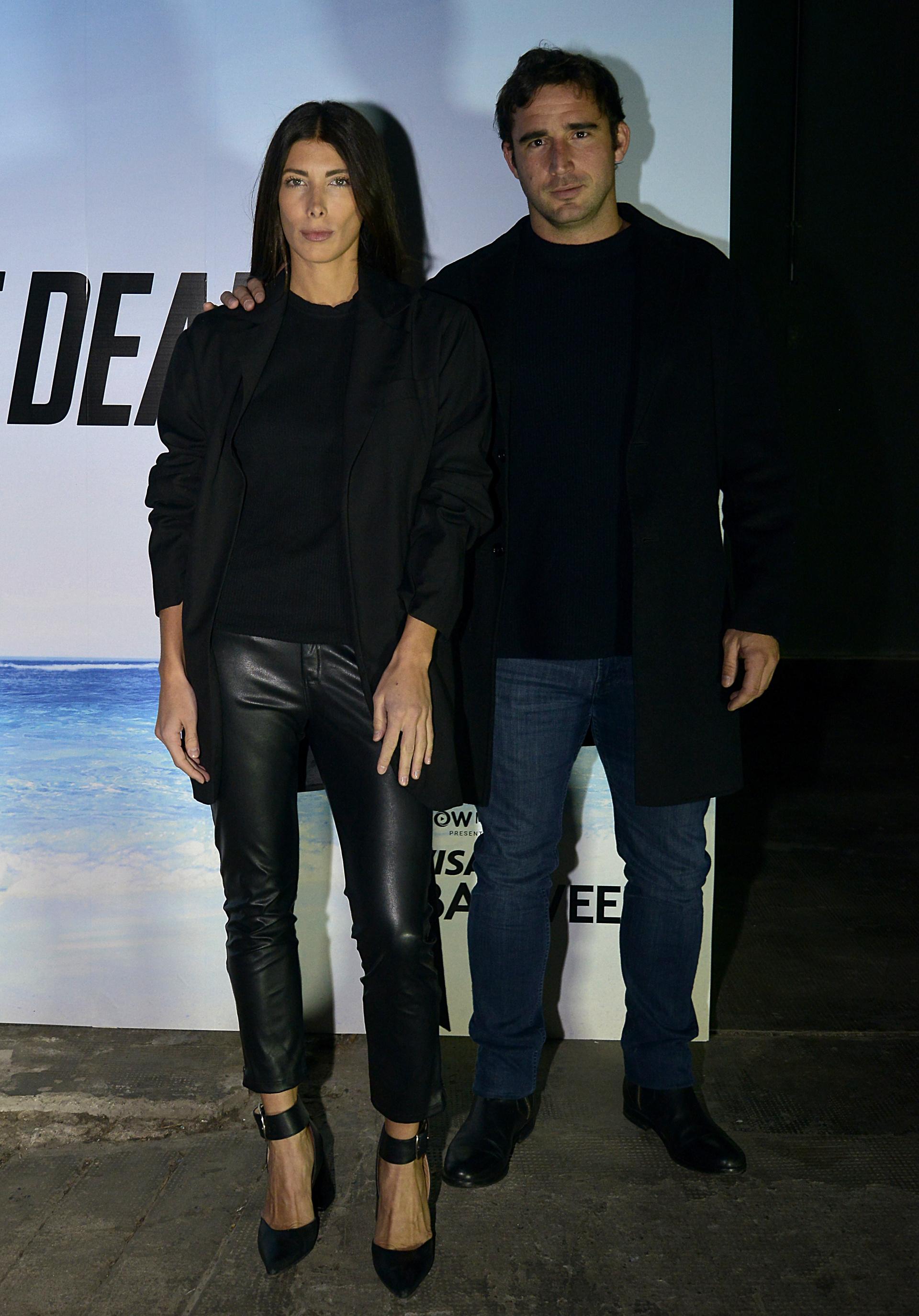 La diseñadora Roma Remon y su novio