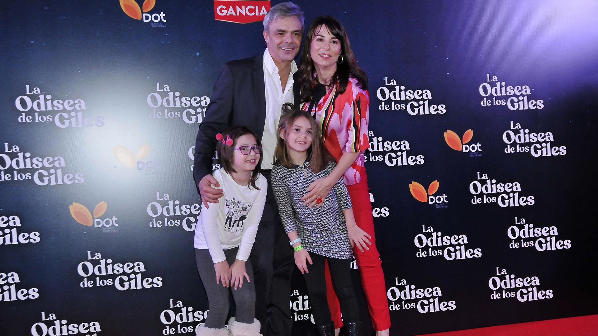 Sebastián Borensztein y su familia