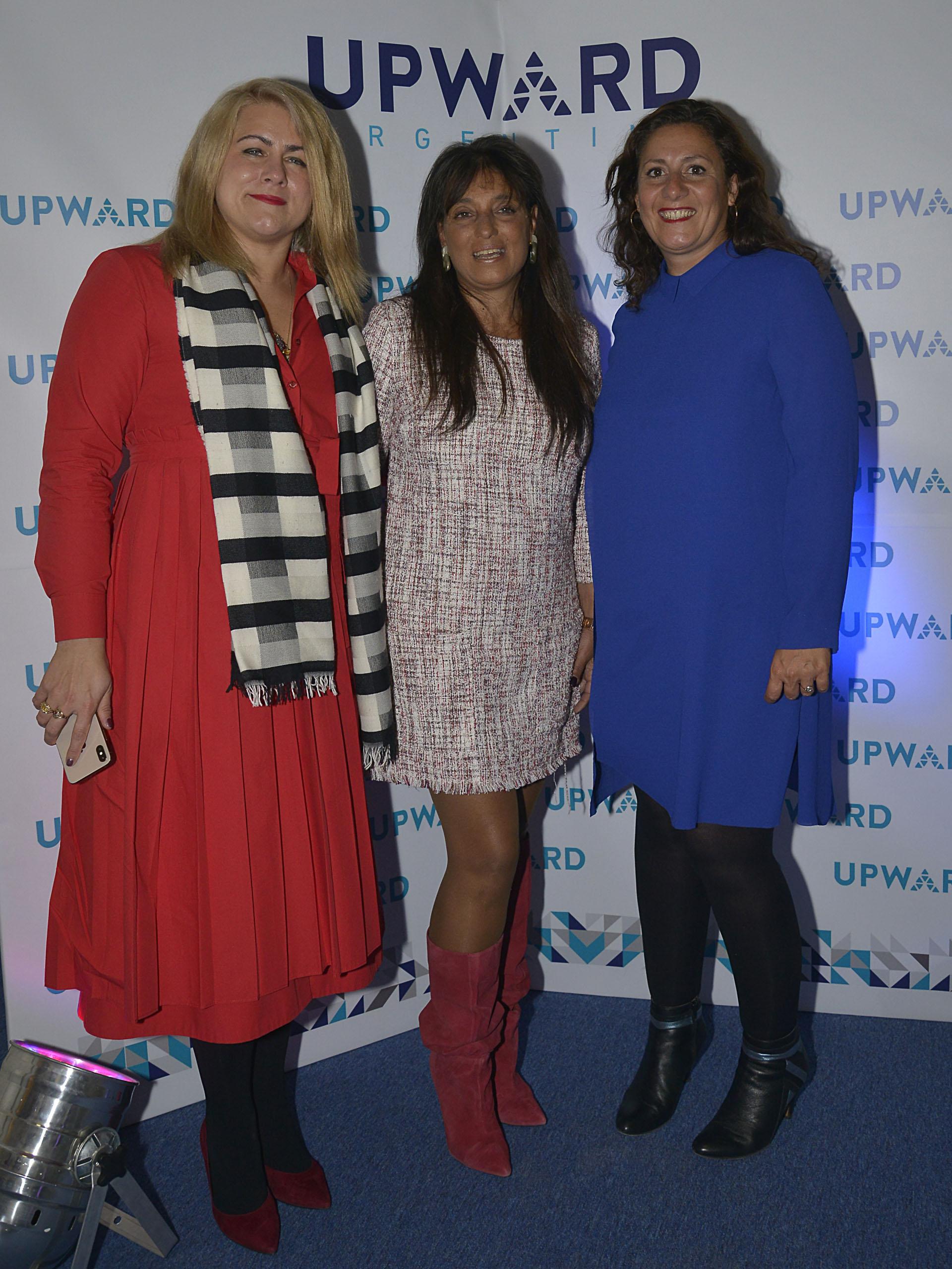 Natalie Kostus, vicepresidenta ejecutiva de IAW y representante de las Naciones Unidas; Viviana Zocco y Caroline Ramade
