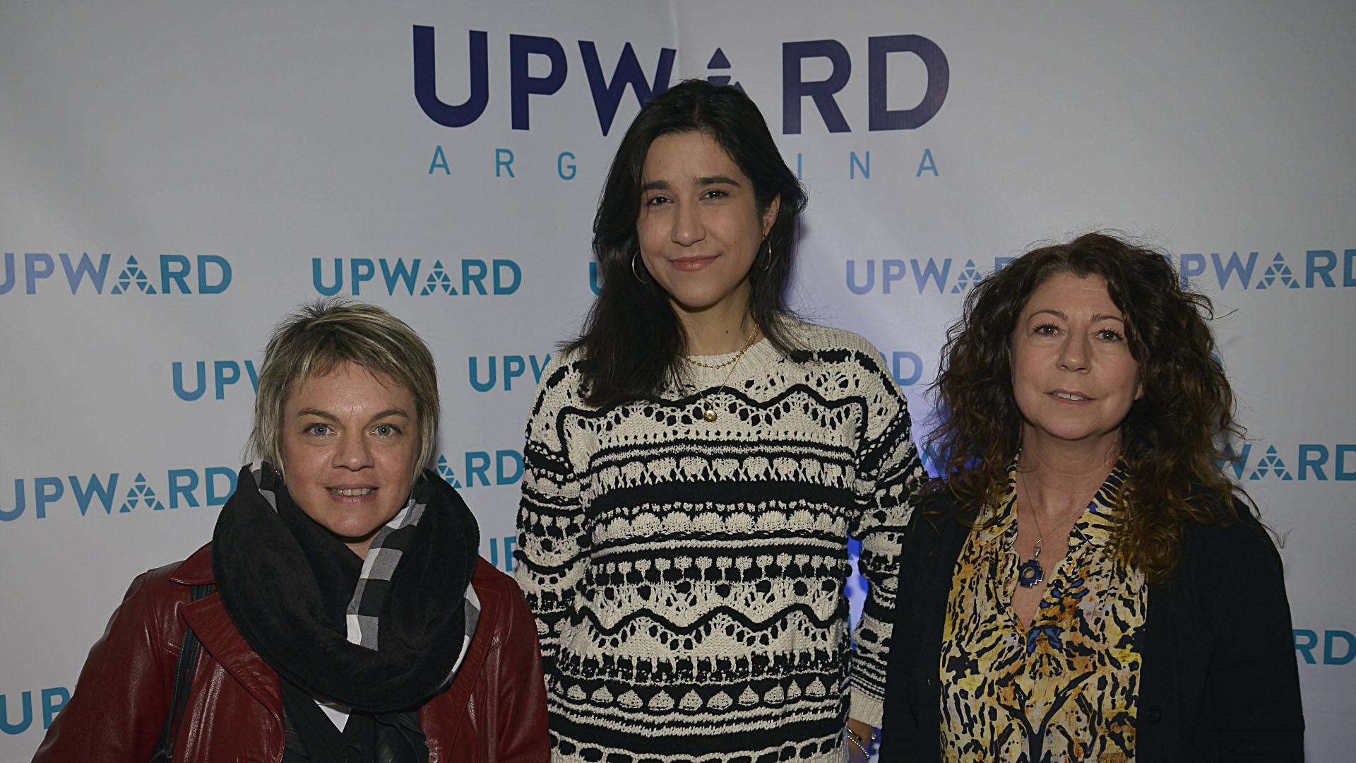 Carolina Garófalo (Consultora Fundación Global) Laura Alvarez Modernel (Amazon Web Services) y María José Sucarrat (Directora de Red Di Tella)