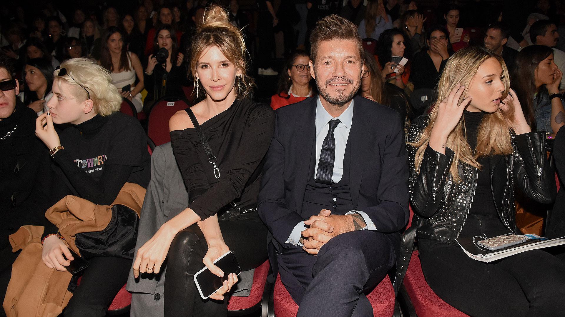 Marcelo Tinelli asistió con su mujer, Guillermina Valdés, a la presentación de la nueva colección de Ginebra, la marca de Micaela, su hija mayor