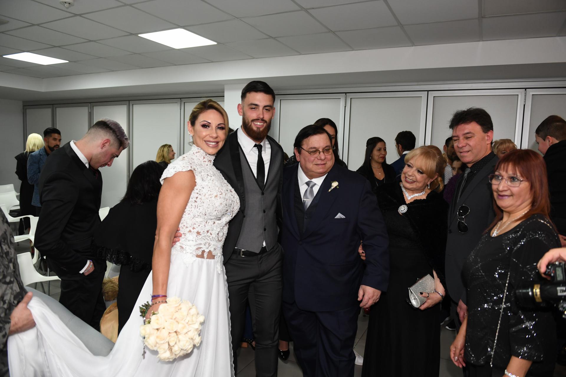 La familia de la vedette viajó desde Uruguay para estar presente en este día especial
