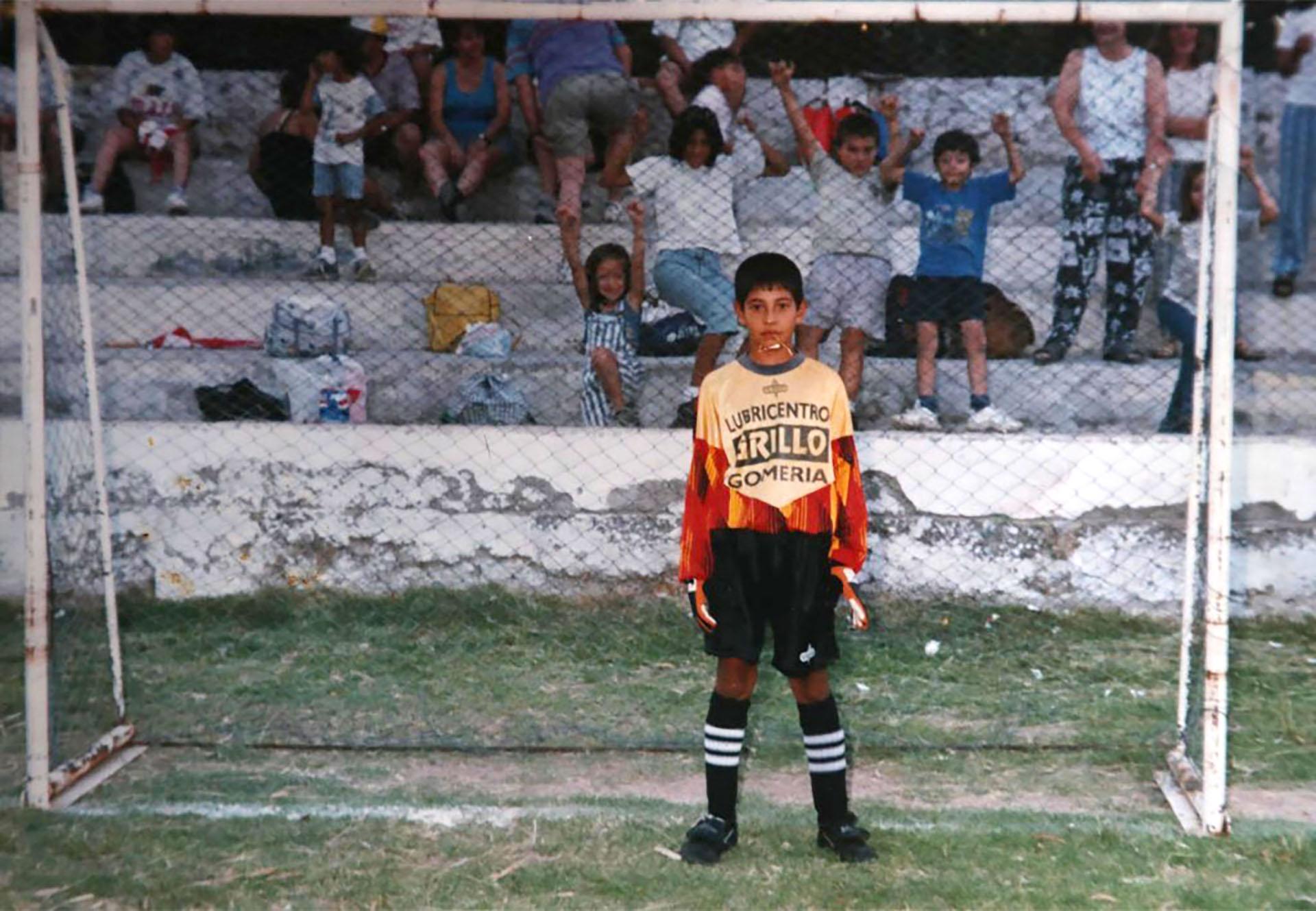 Esteban Andrada, joven promesa del fútbol mendocino